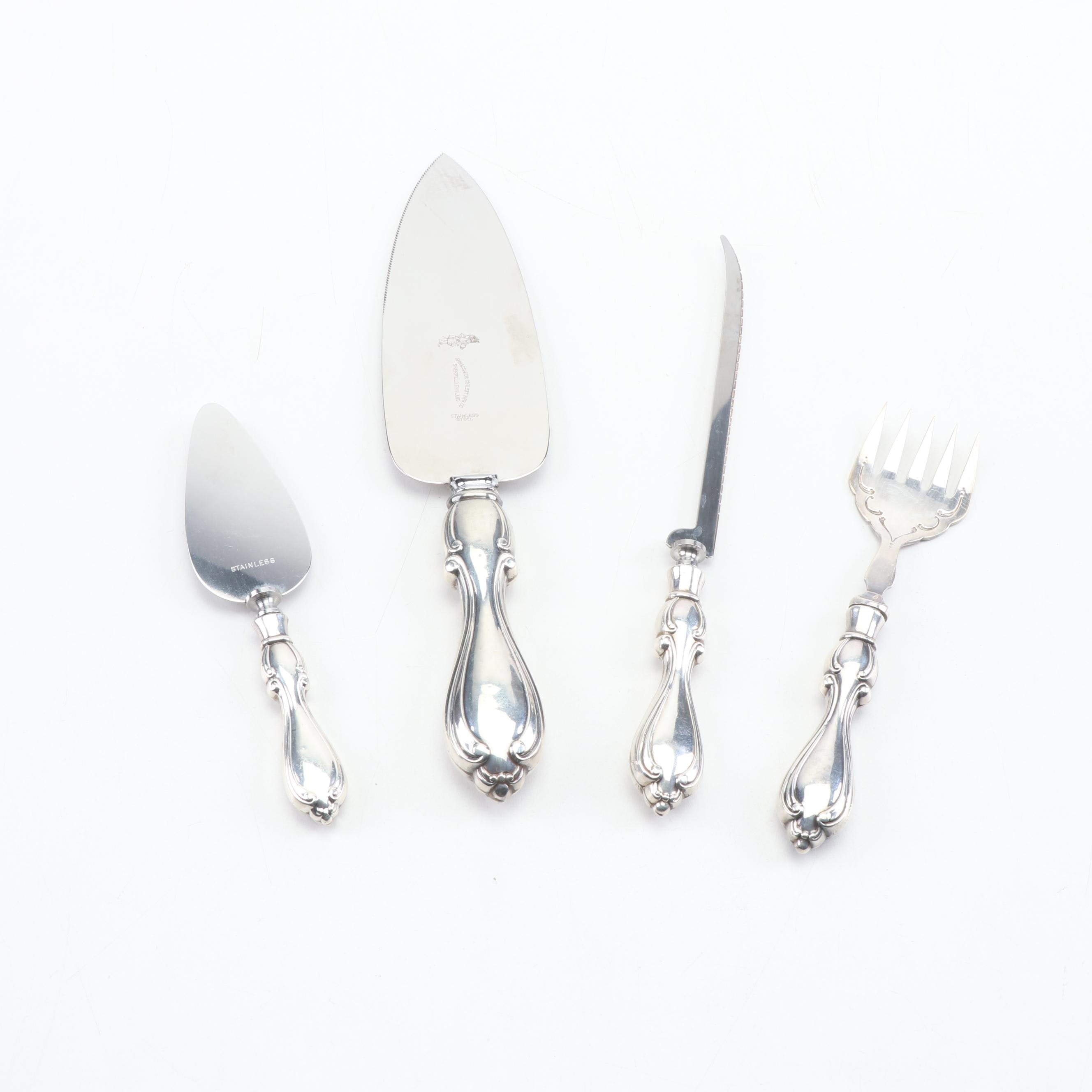 Ambassador Cutlery Mfg. Co. Sterling Silver Handled Serving Utensils