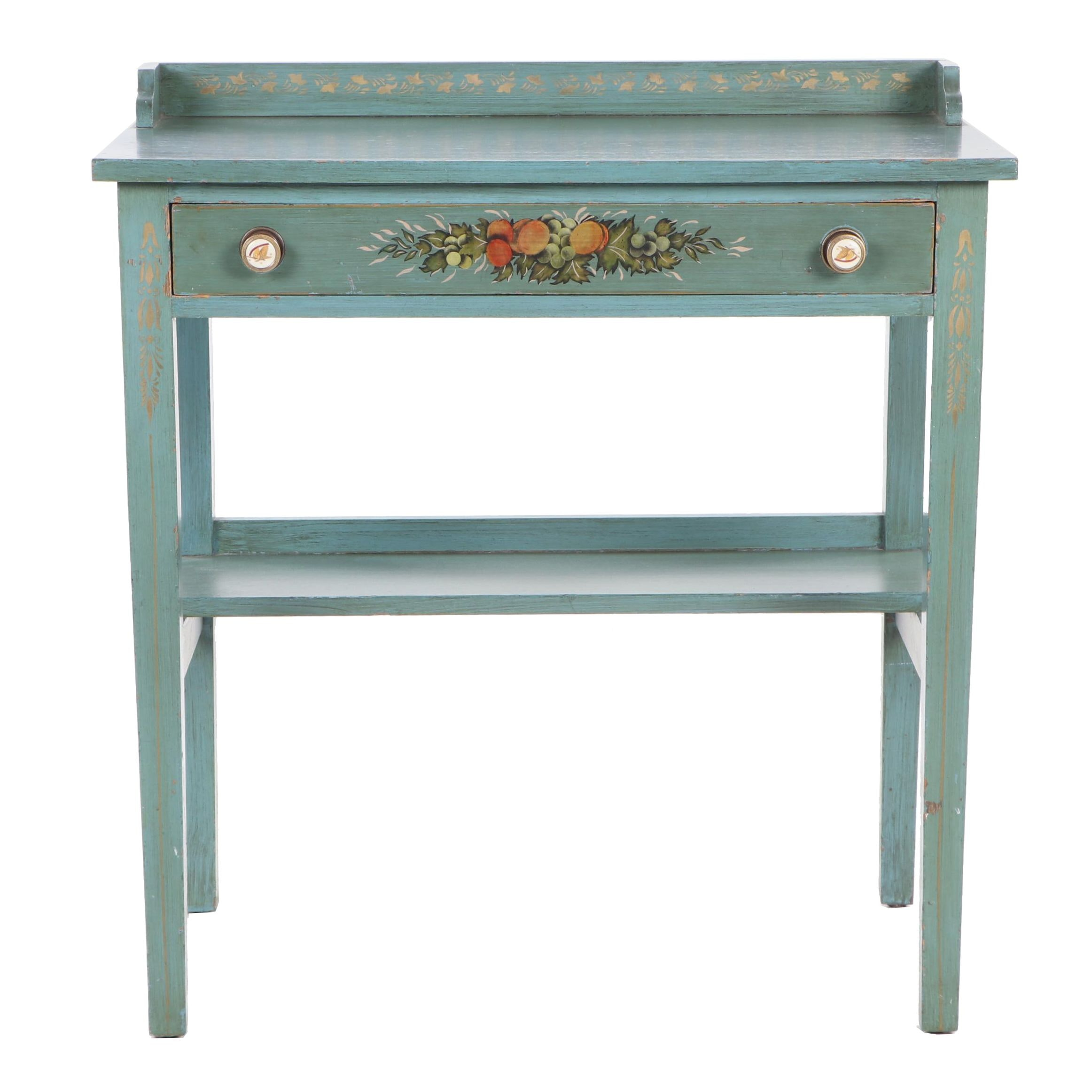 French Provincial Paine Furniture Co. Painted Wooden Desk