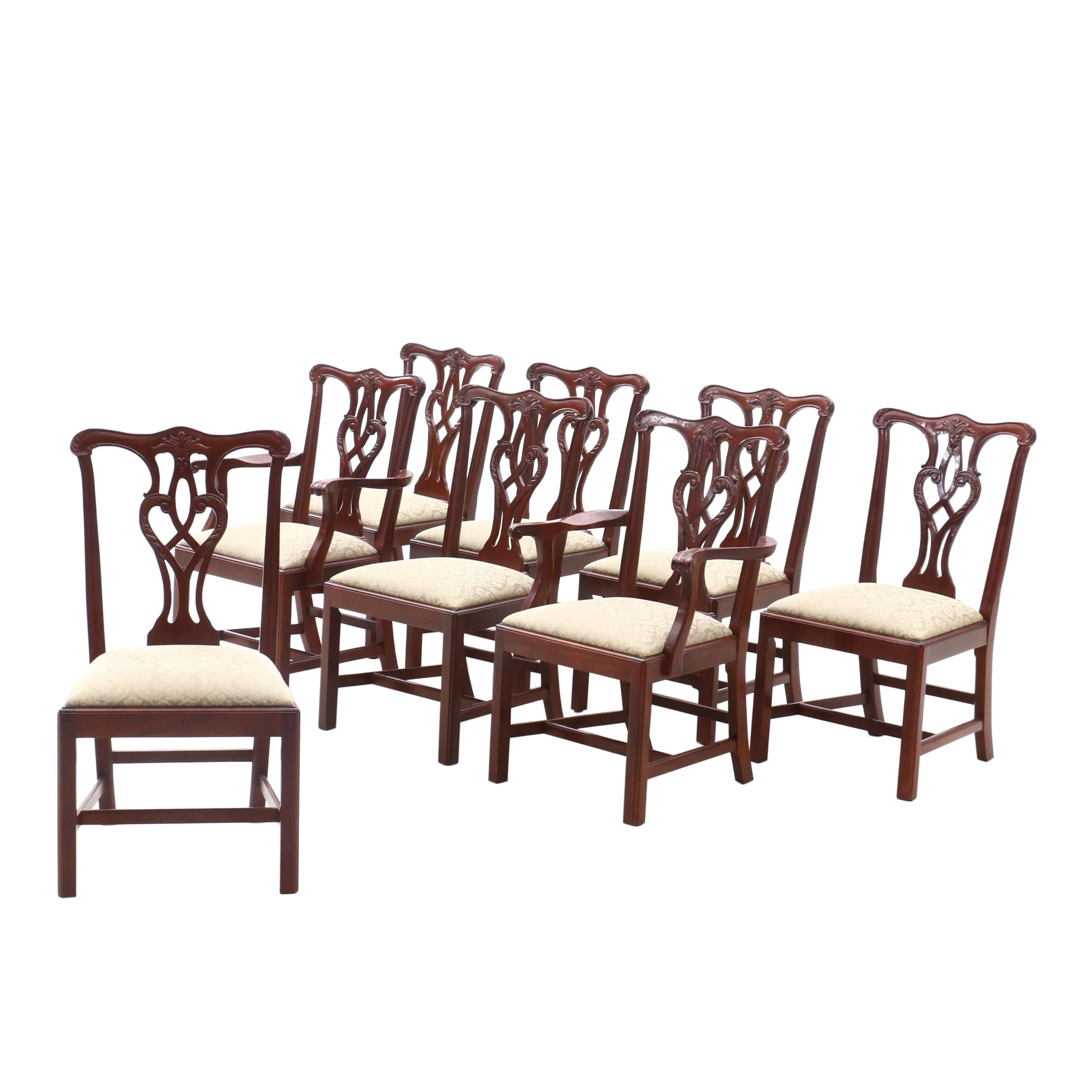 Chippendale Style Mahogany Dining Chairs by Craftique, Contemporary