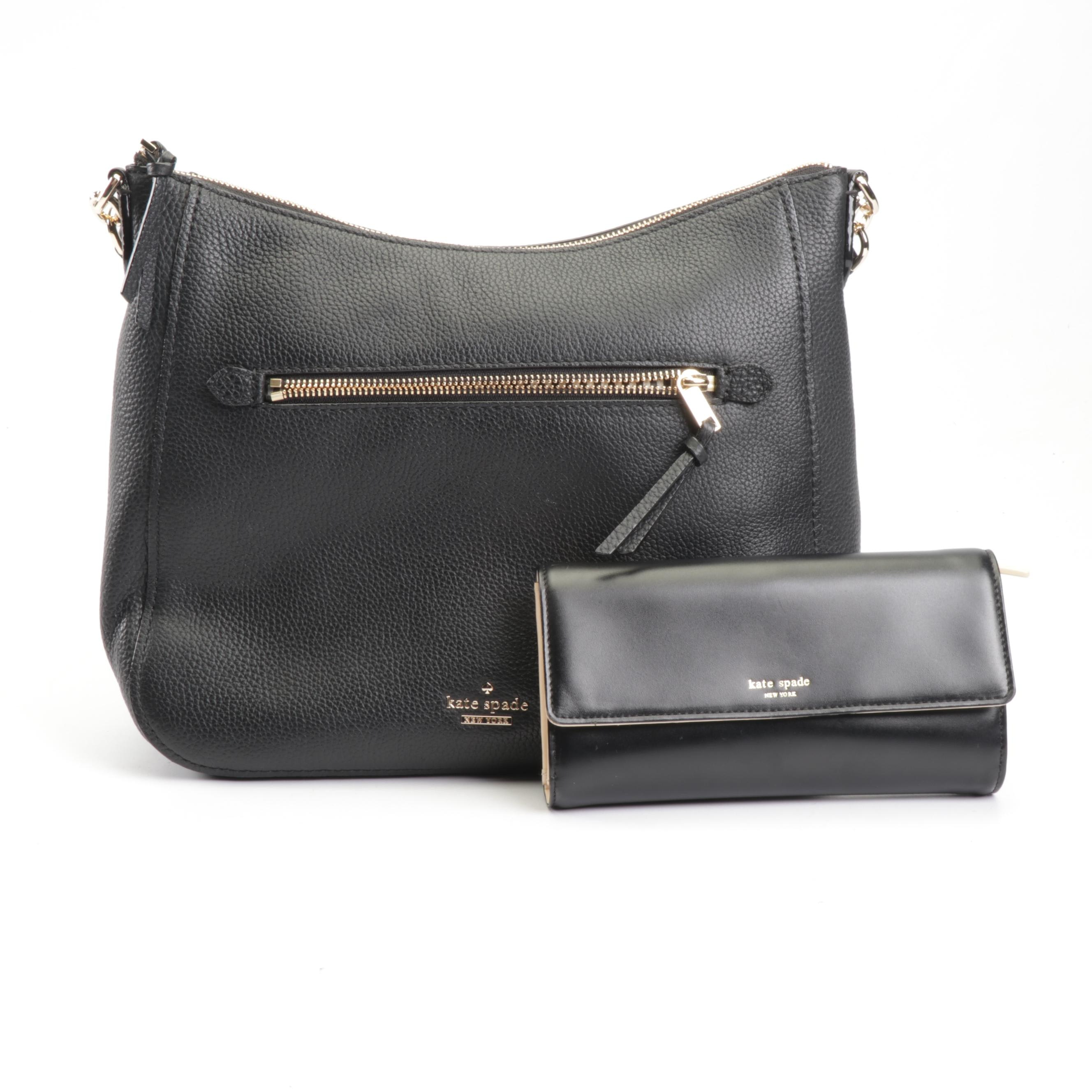 Kate Spade New York Black Leather Bag and Wallet