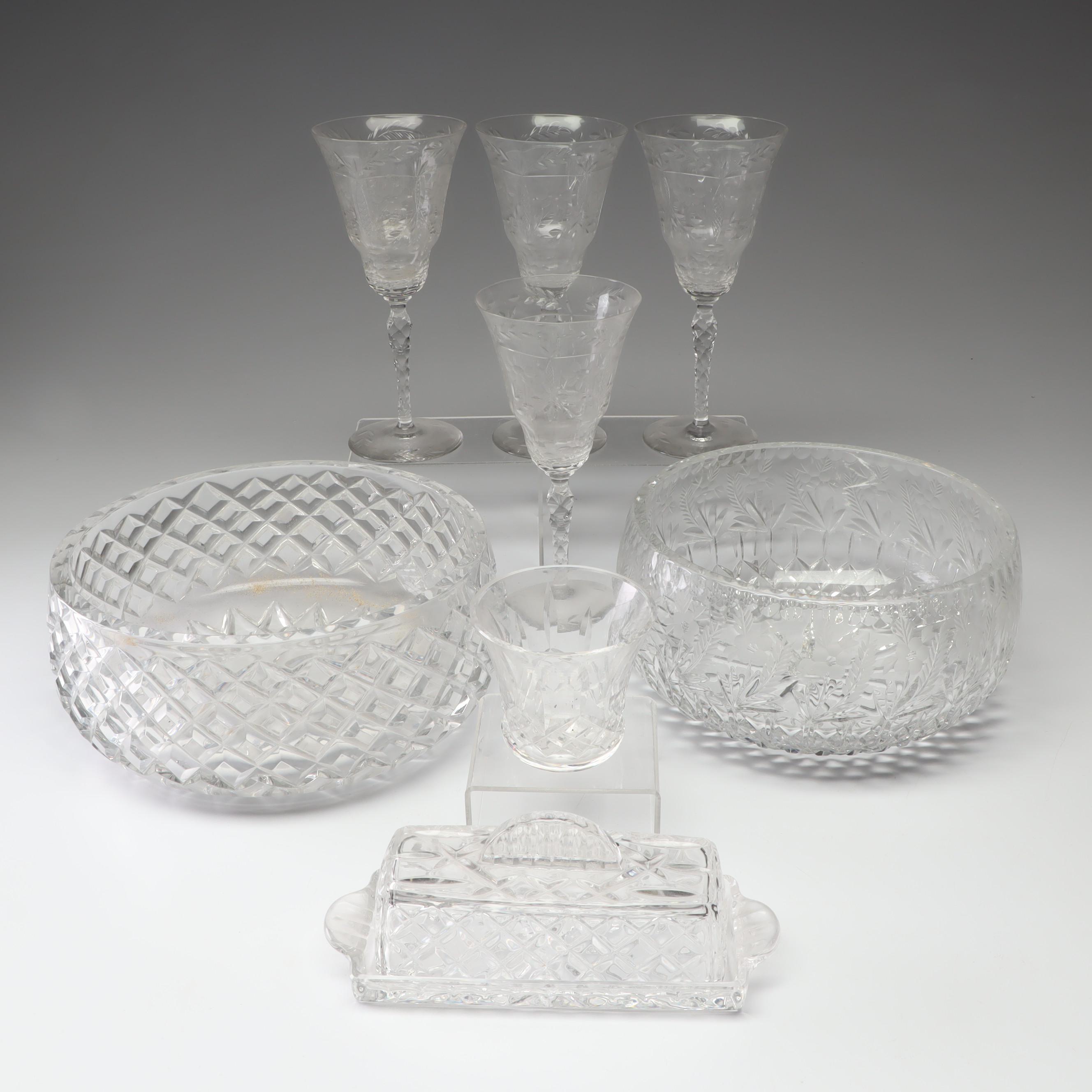 Cut Crystal Stemware and Serveware