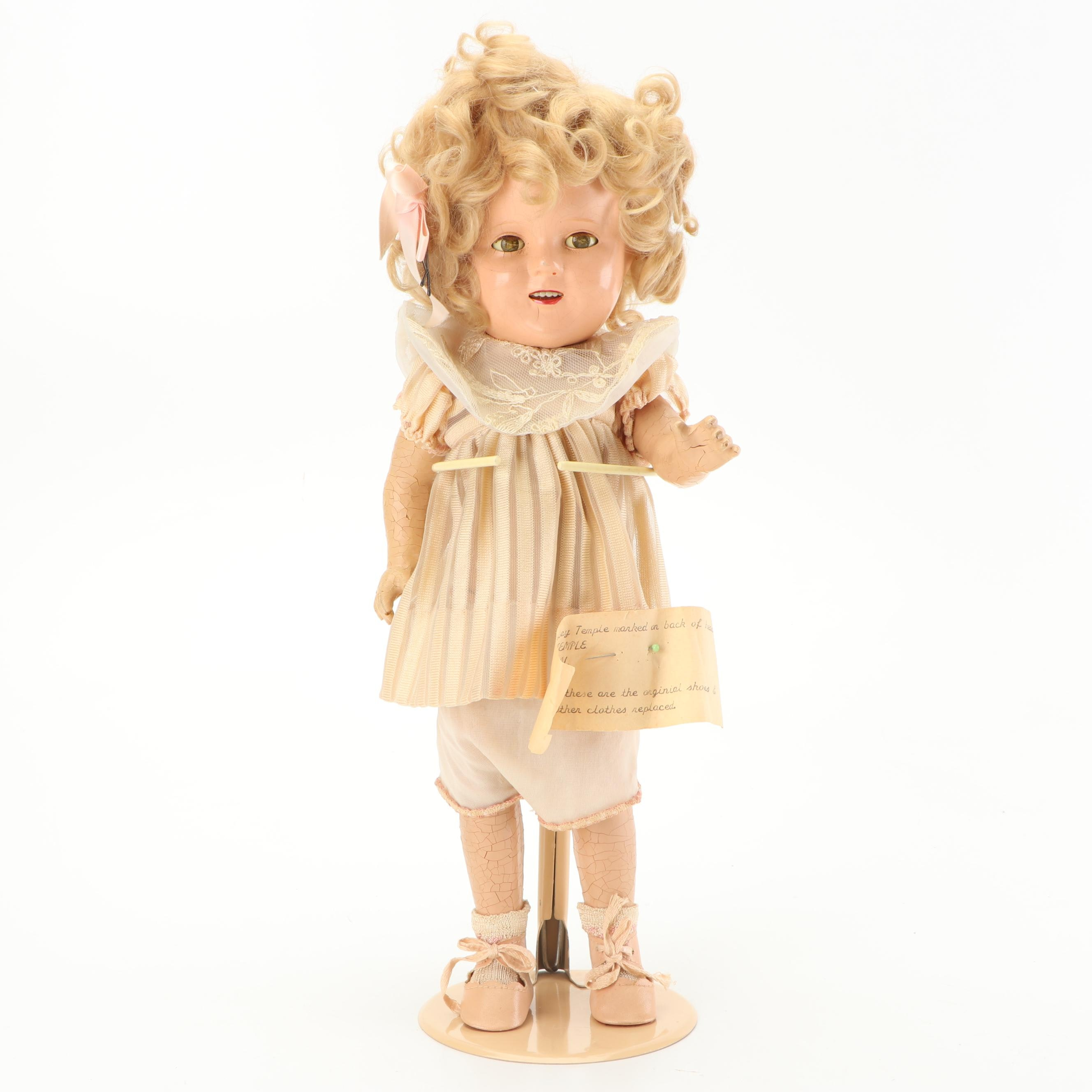 """Ideal """"Shirley Temple"""" Composition Doll, 1930s"""