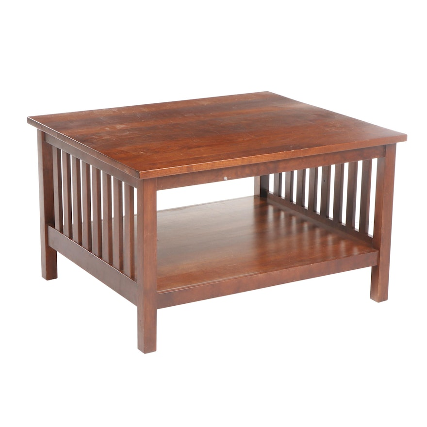 Contemporary Arts and Crafts Style Wooden Coffee Table