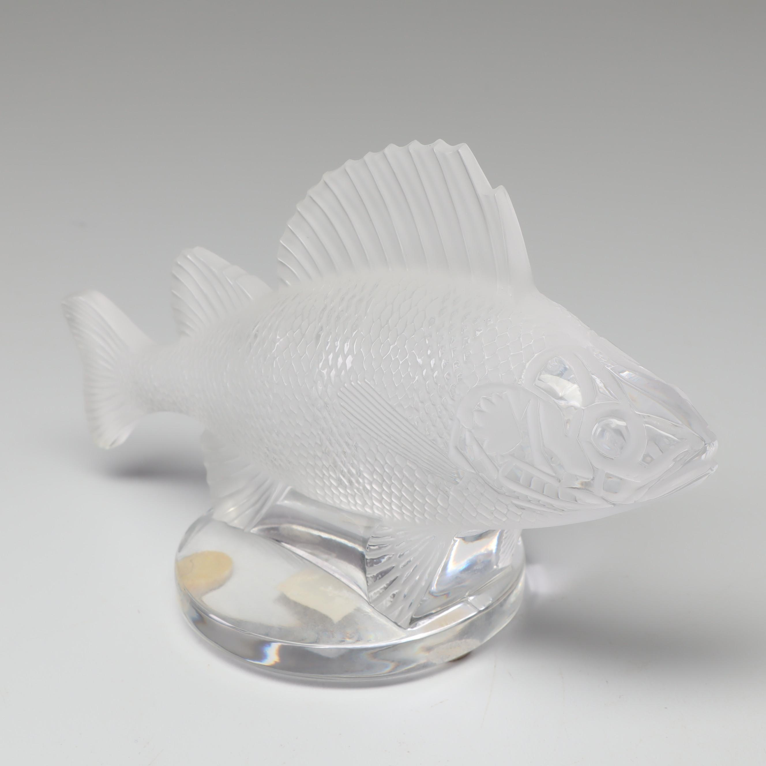 "Lalique Crystal ""Poisson"" Paperweight"