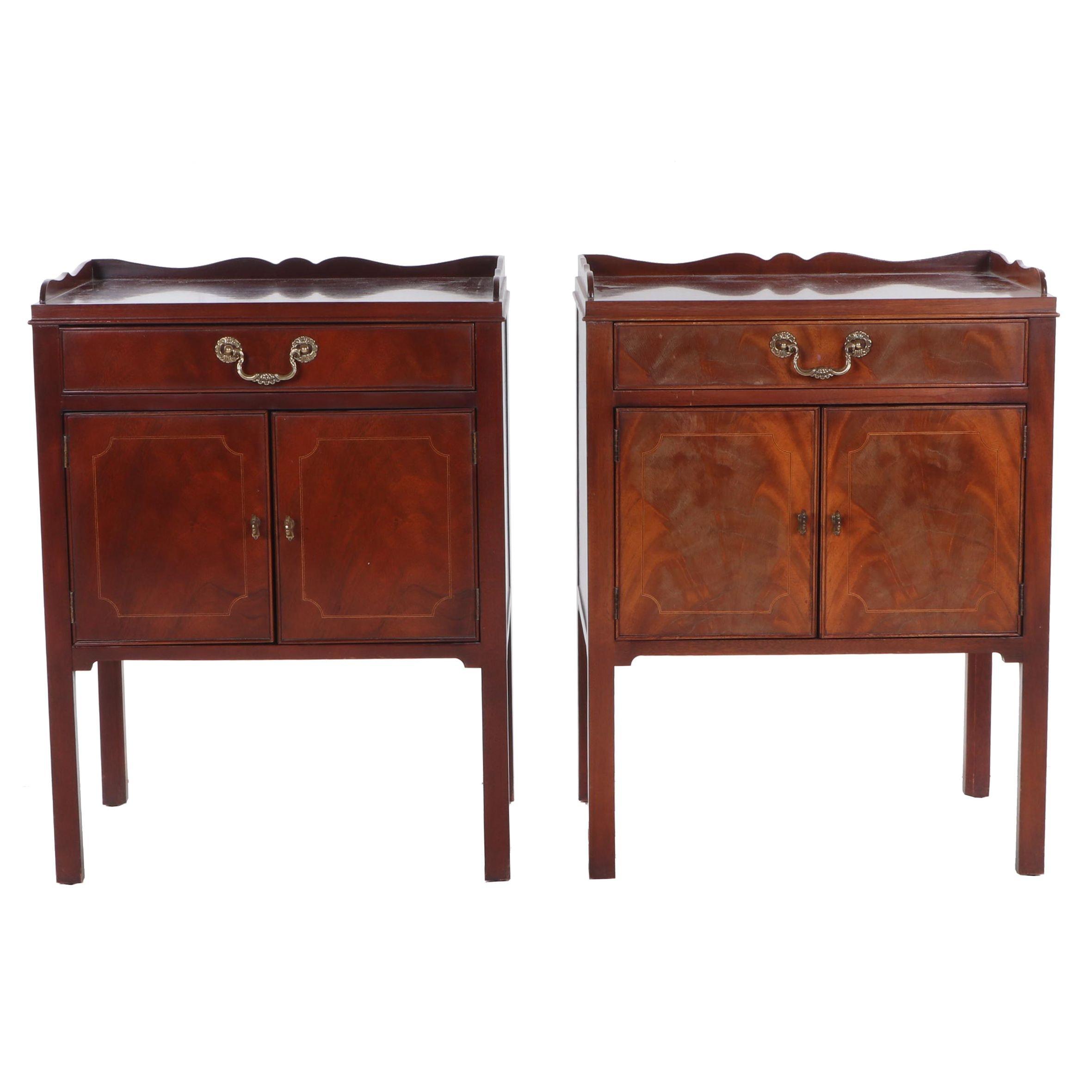 Baker Mahogany Side Tables, Late 20th Century
