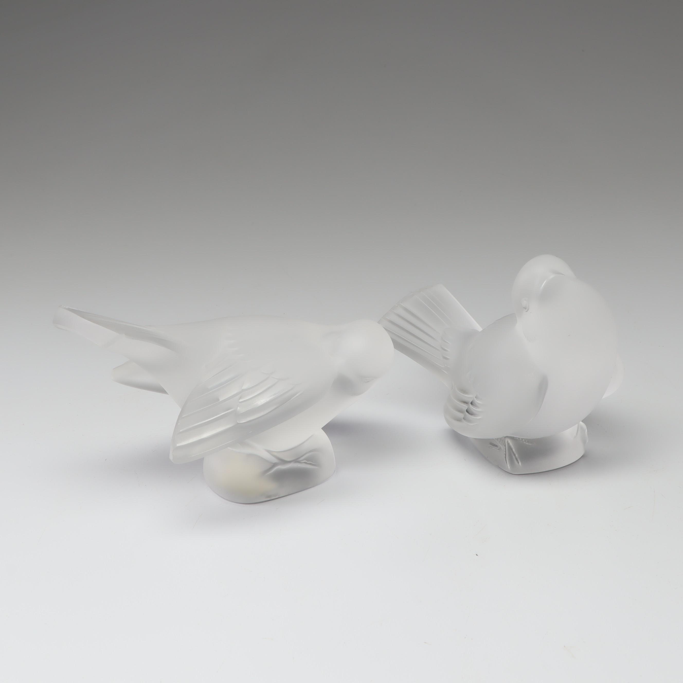Lalique Crystal Birds