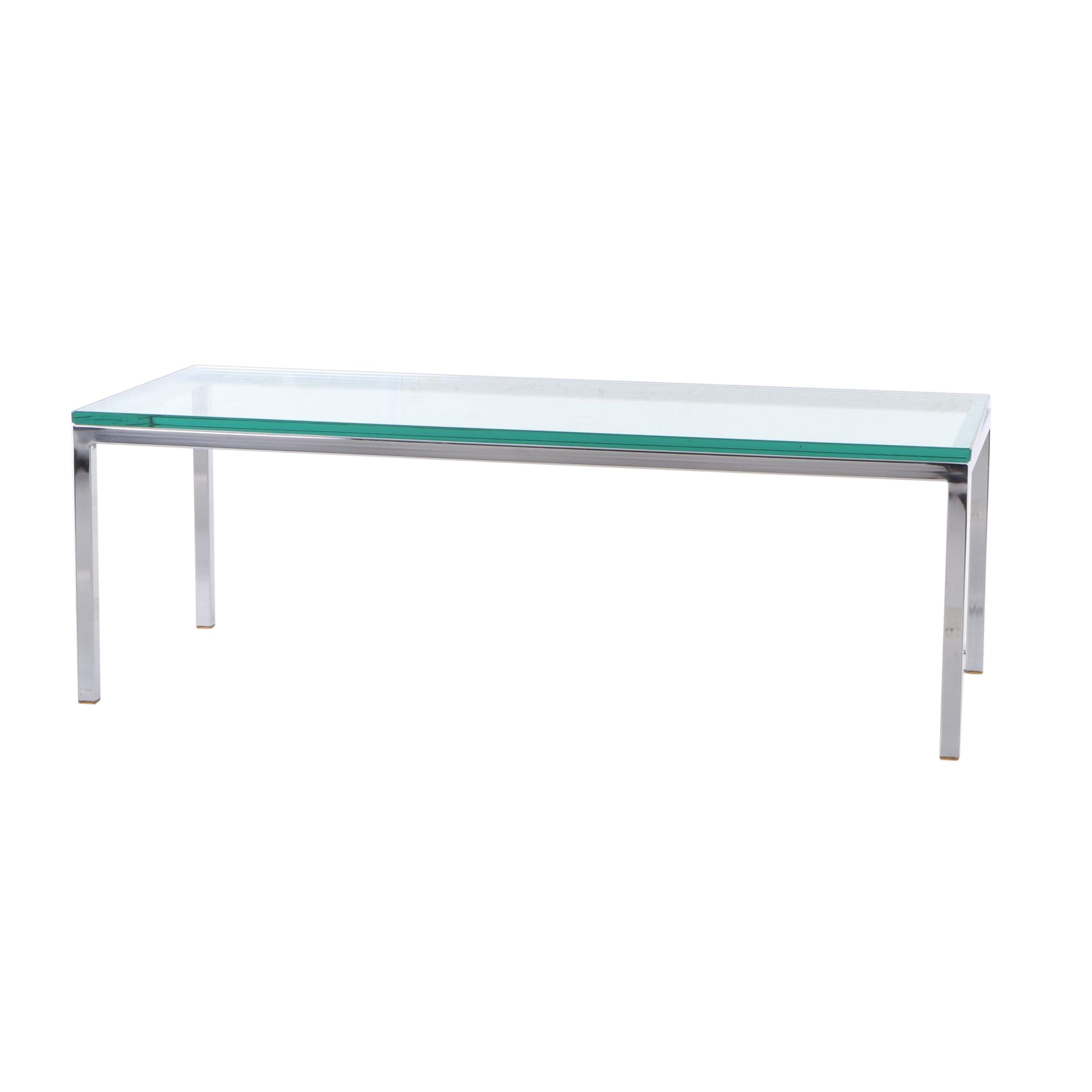 Modern Chrome and Glass Coffee Table, Late 20th Century
