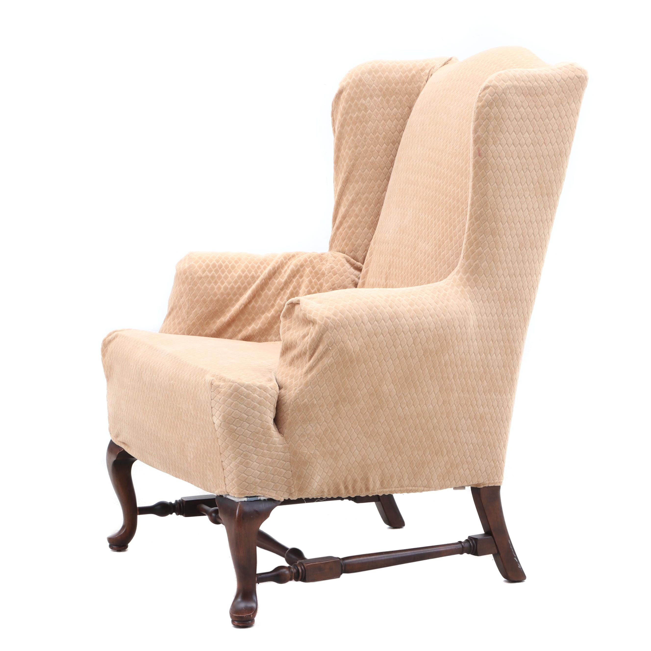 Wingback Armchair with Slip Cover