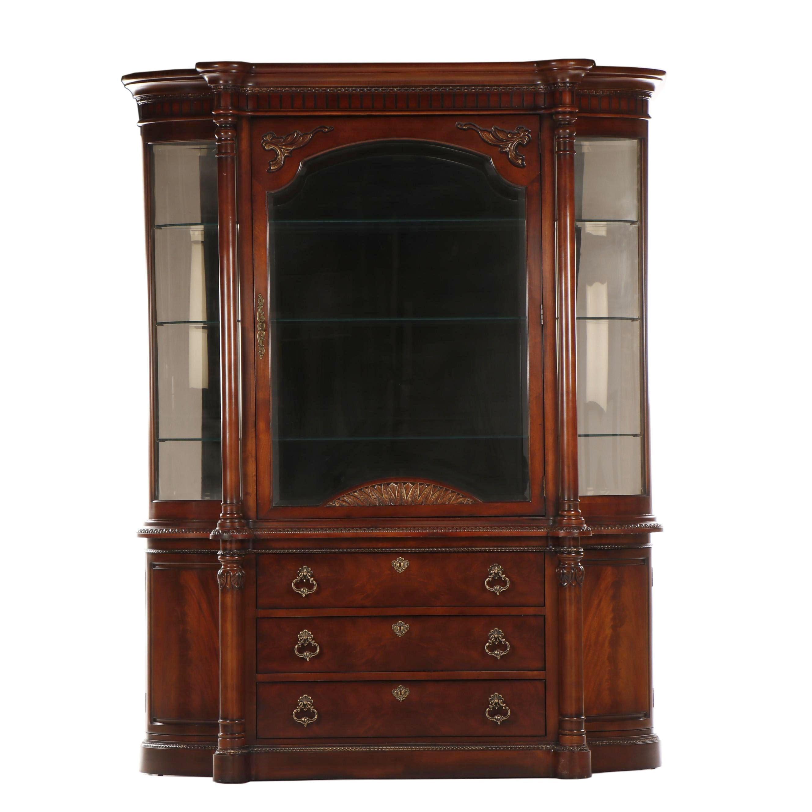 Century Furniture Company Contemporary Transitional Mahogany China Cabinet