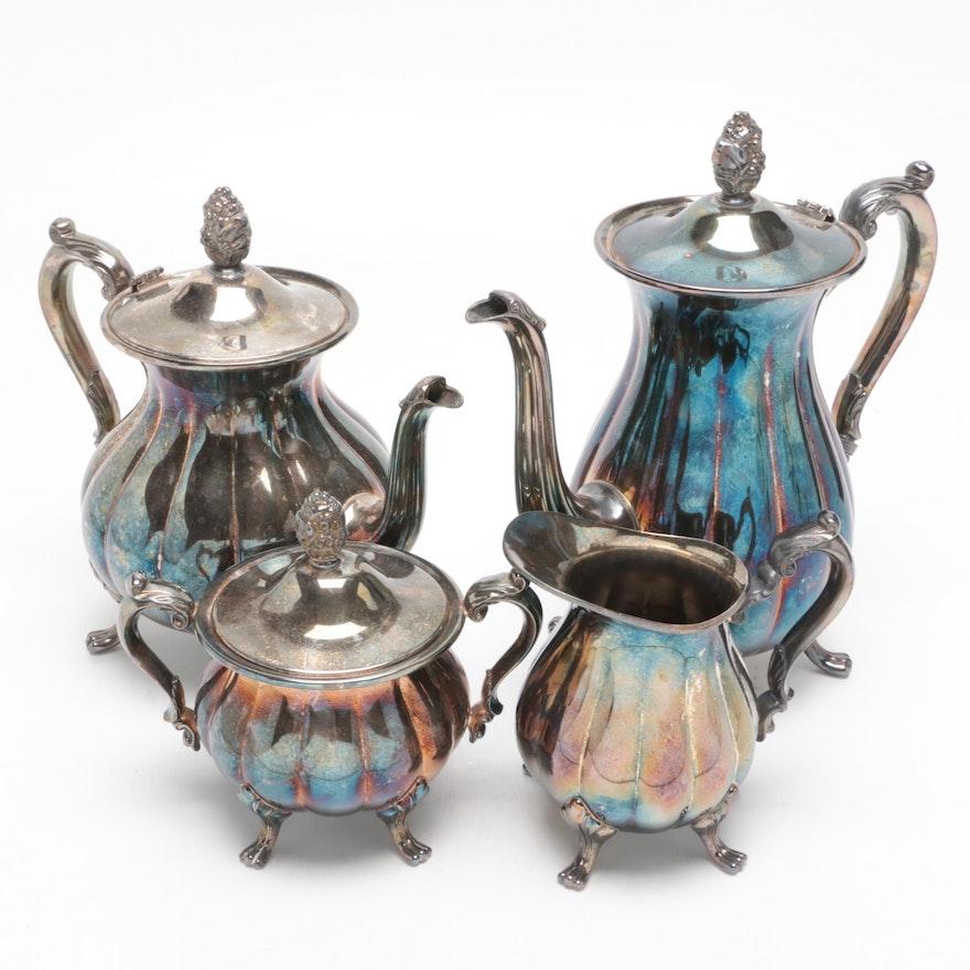 "Poole ""Sevenoaks"" Silver Plate Tea and Coffee Service"