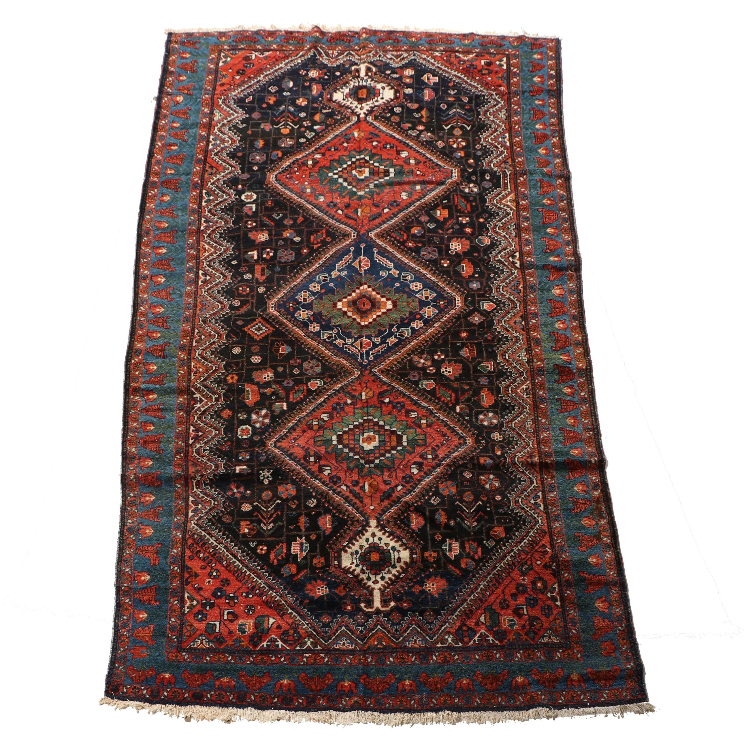 Hand-Knotted Romanian Shiraz Wool Rug