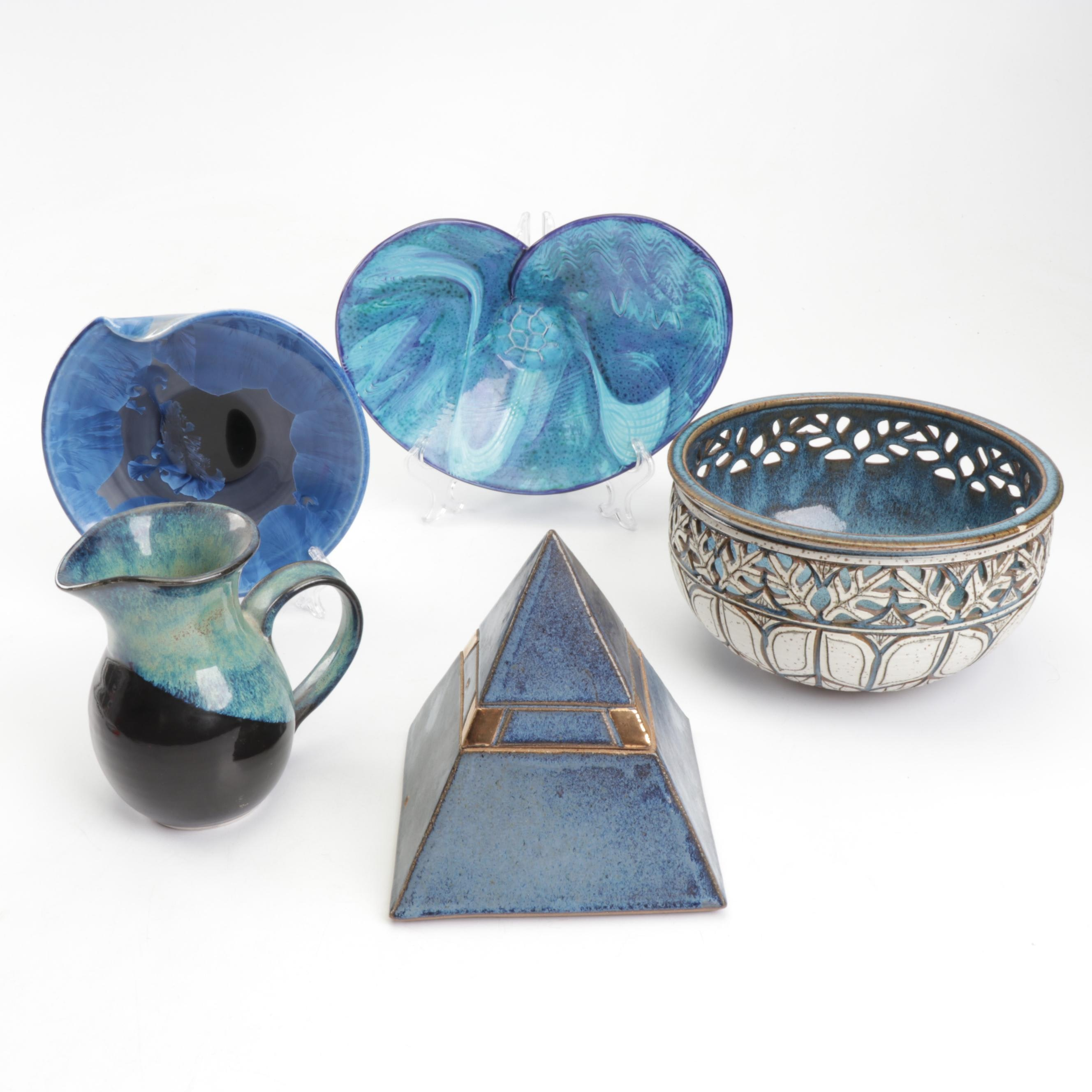 Handbuilt and Thrown Porcelain and Stoneware Home Decor