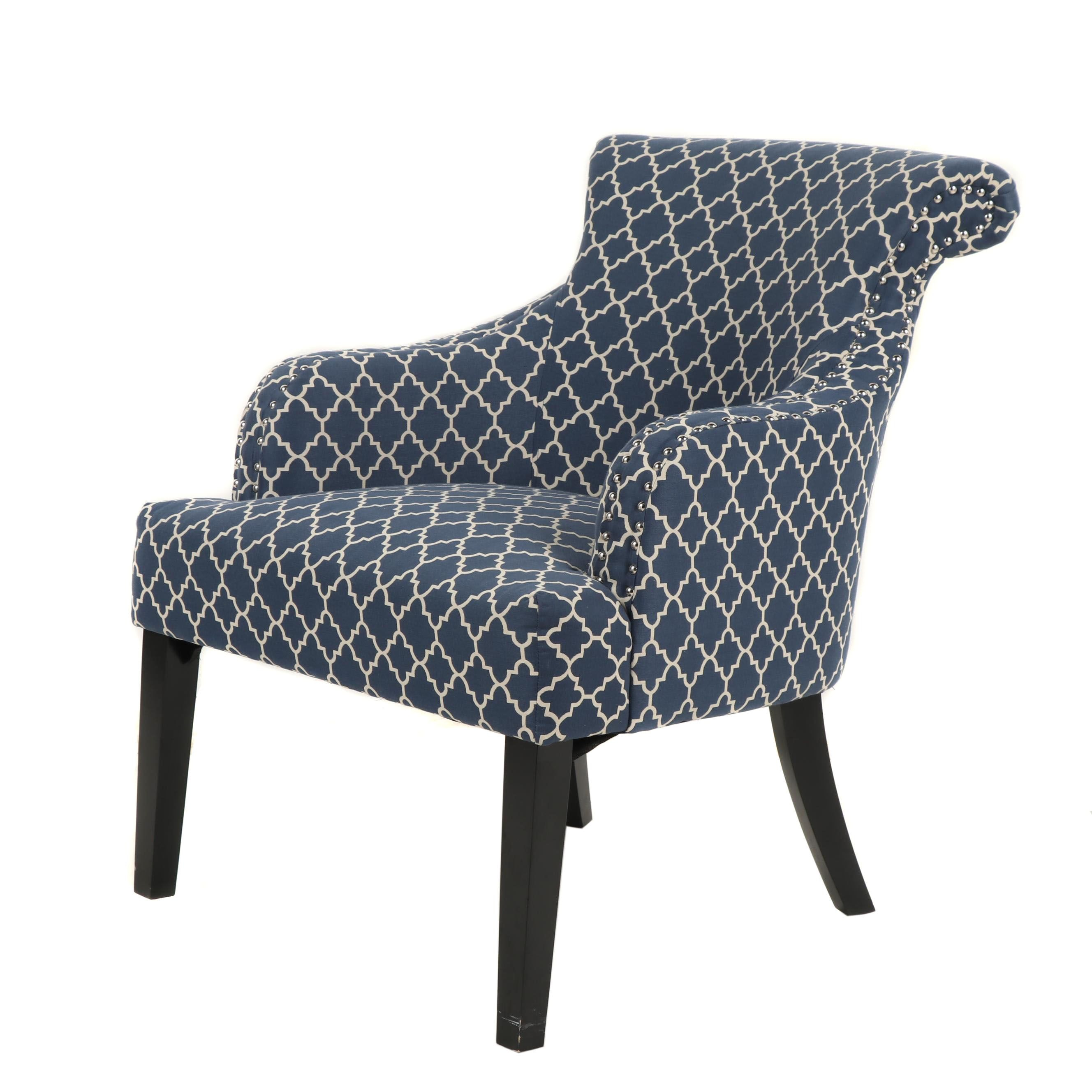 Lattice Fabric Armchair