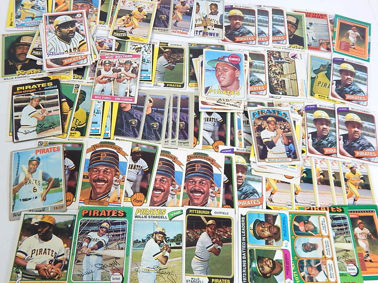 (HOF) Willie Stargell Pittsburgh Pirates Baseball Cards from 1966 to 1980s