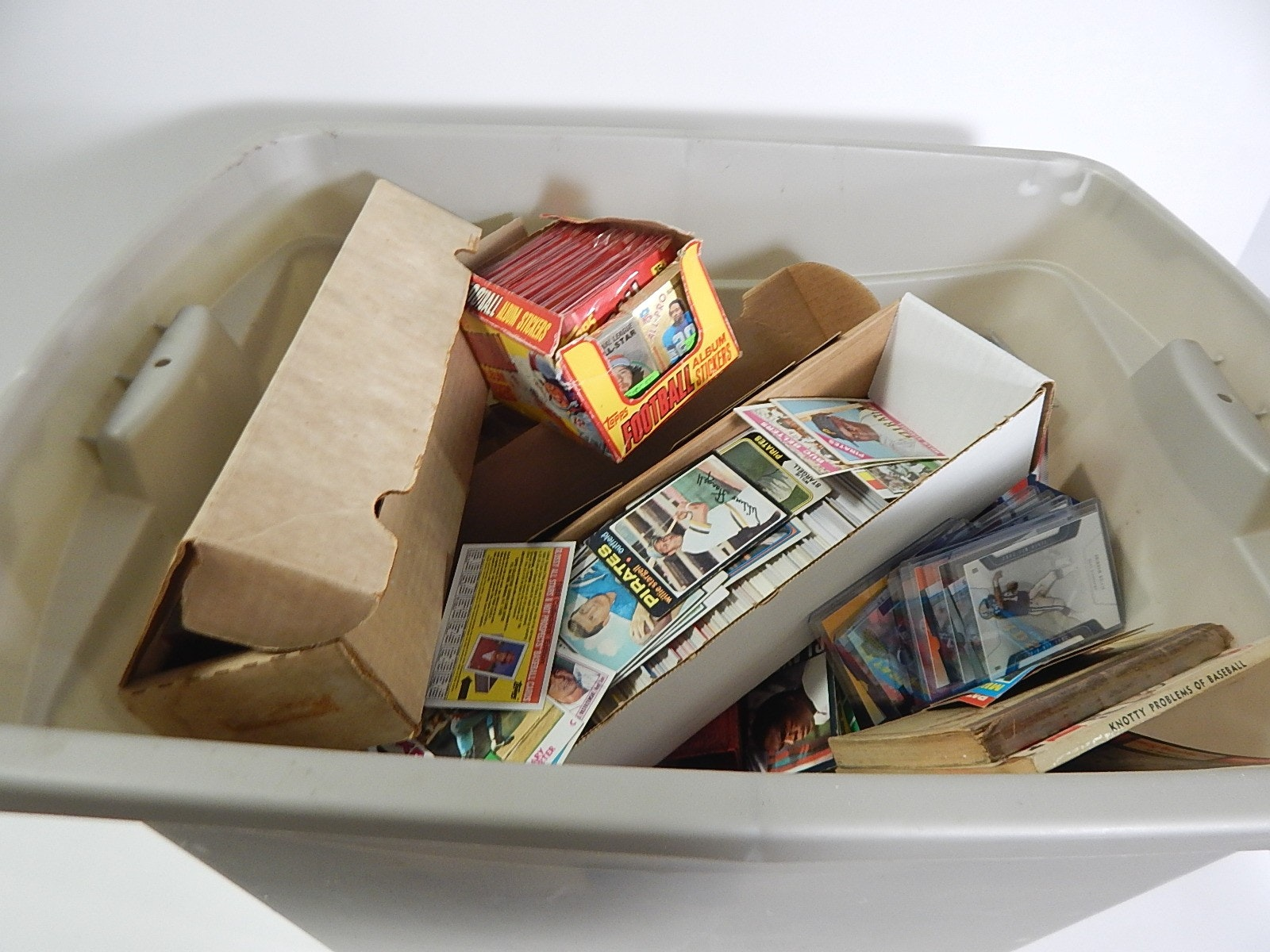 Tub of Sports Baseball, Football,Basketball Cards and Collectibles-Over 2000 Ct.