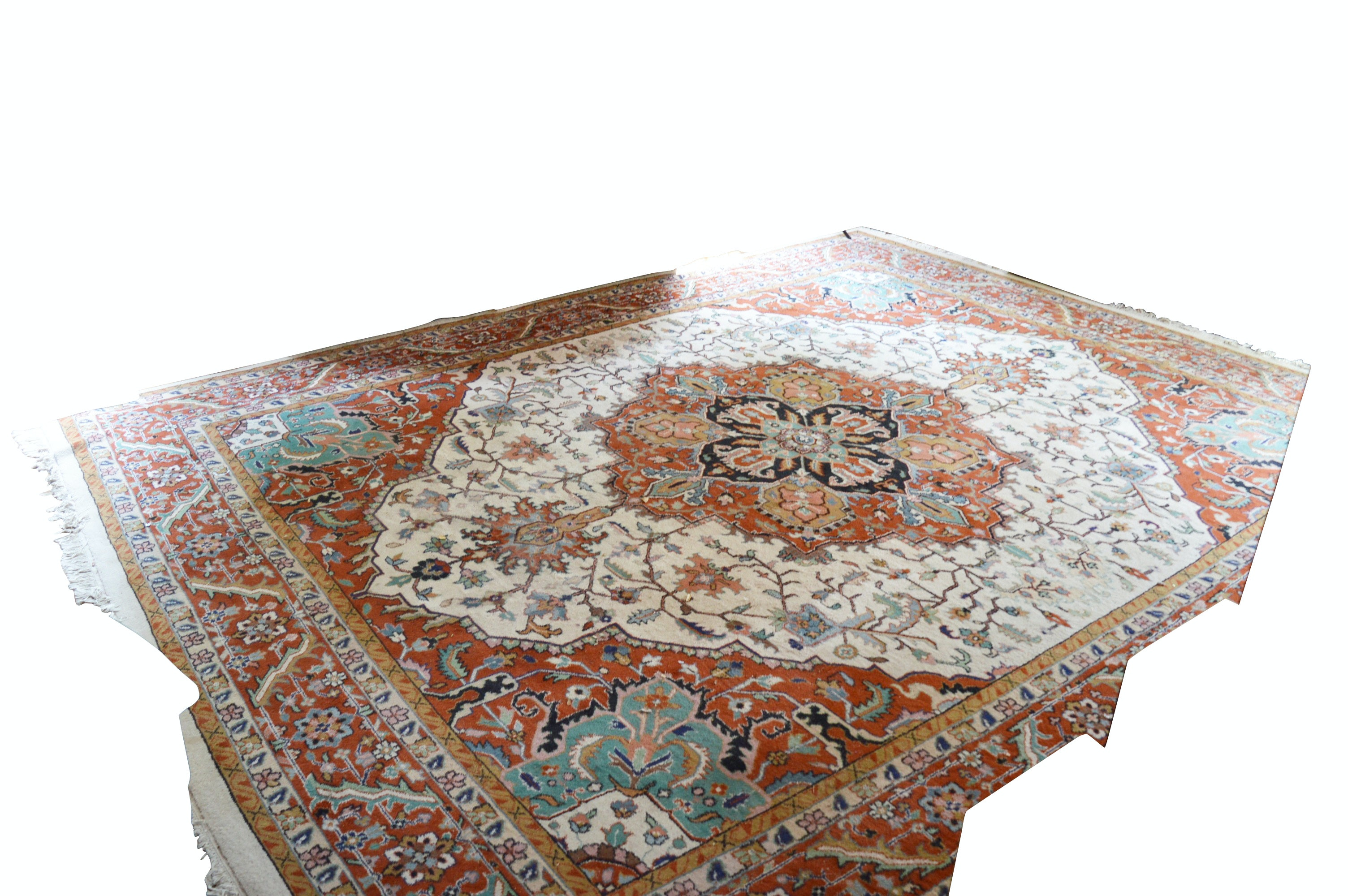 Hand-Knotted Indo-Persian Wool Room Size Rug