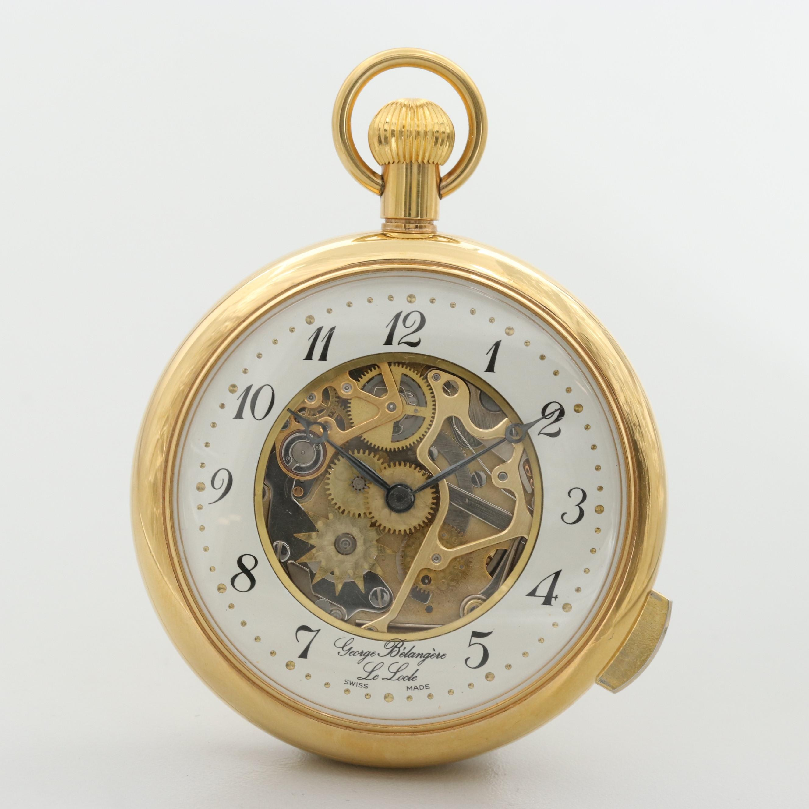 Swiss Five Minute Repeater Pocket Watch With Partial Exhibition Front