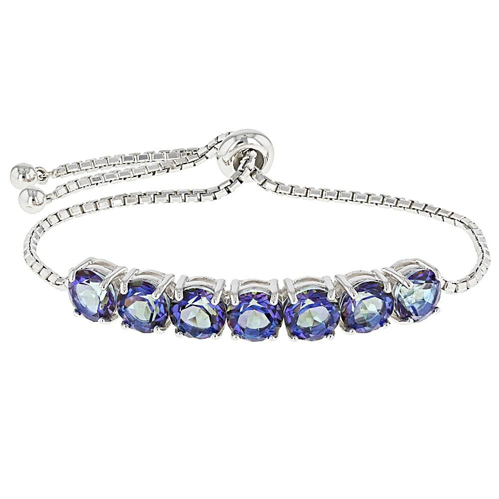 Sterling Silver Quartz Bracelet