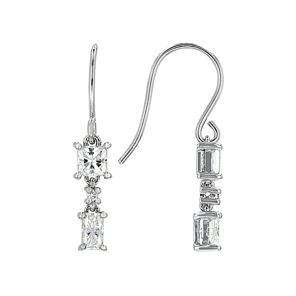 Sterling Silver Moissanite Earrings