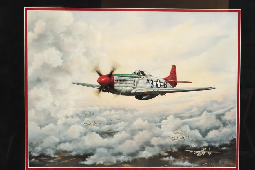 "David Lee Sample Giclee ""Red Tailed Angel"" Tuskegee Airmen"