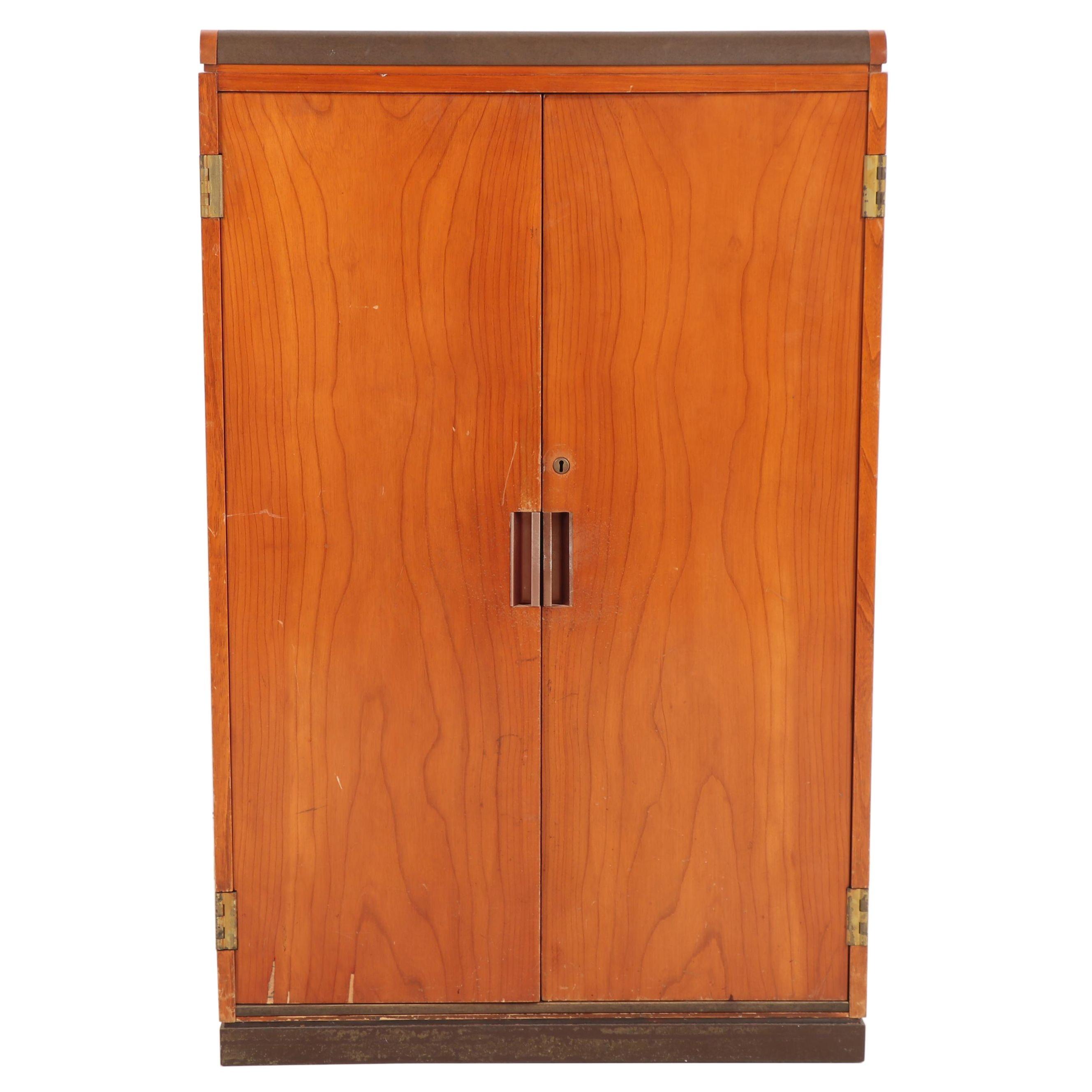 Teak Lockable Storage Cabinet, Mid-20th Century