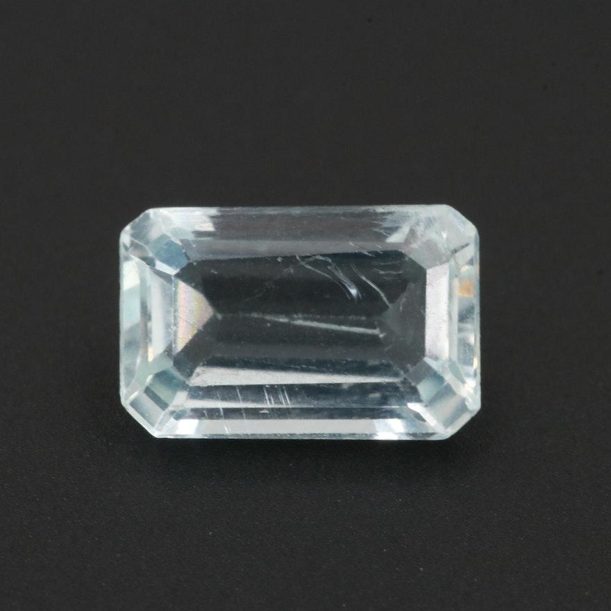 Loose 1.59 CT Aquamarine Gemstone