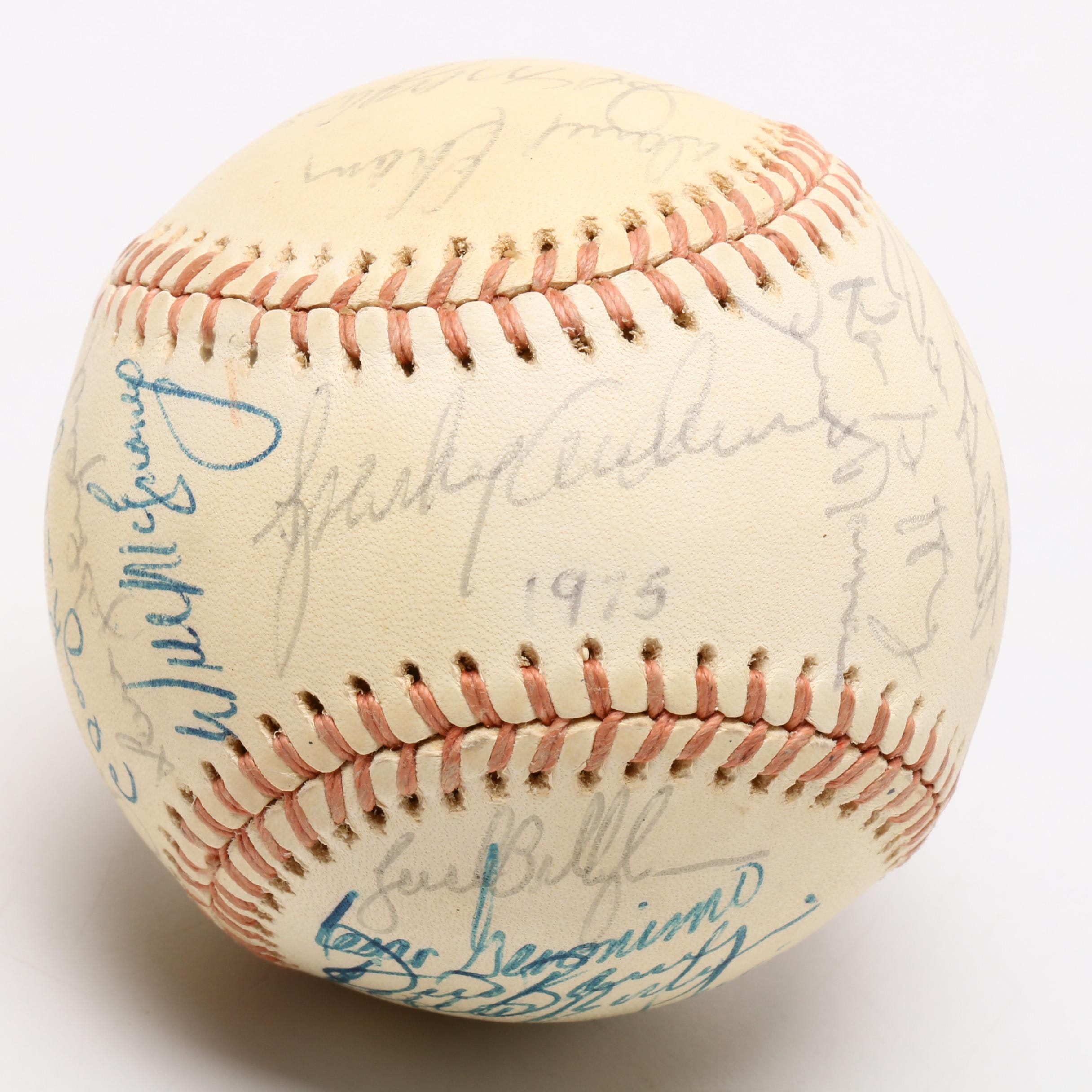 1974/1975 Cincinnati Reds Team Signed National League (Feeney) Rawlings Baseball