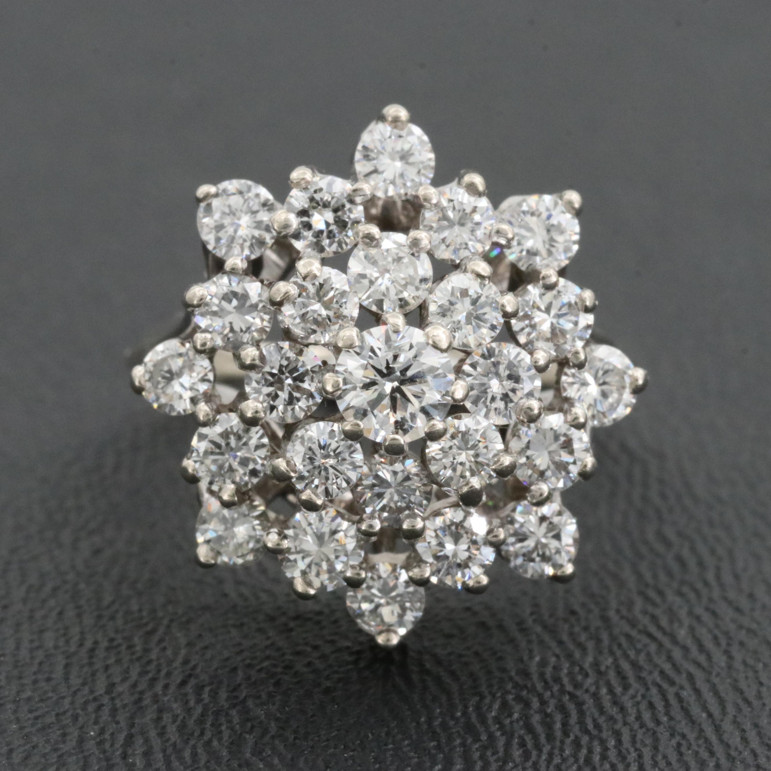 14K White Gold 2.05 CTW Diamond Ring