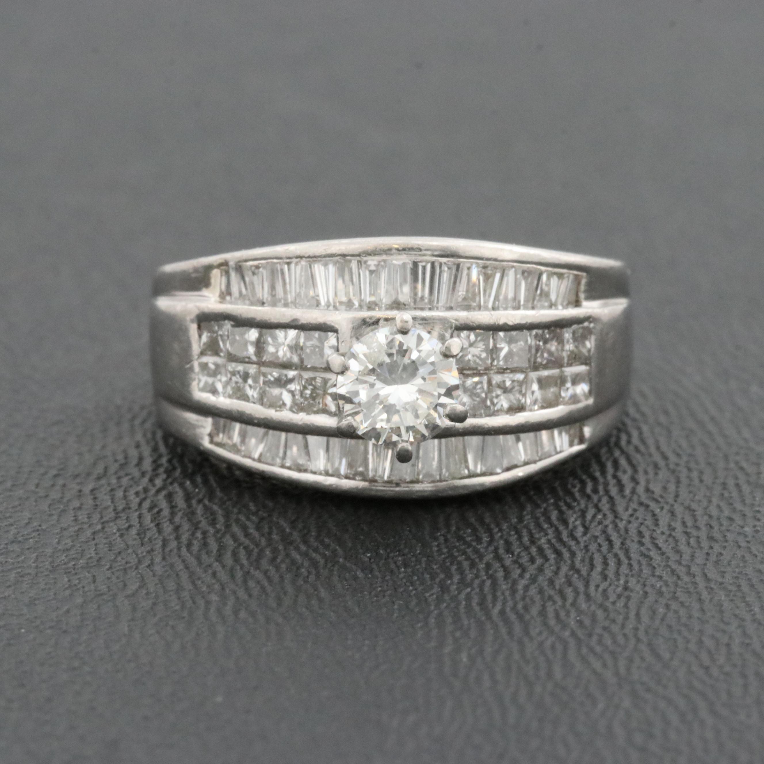 Platinum 2.28 CTW Diamond Ring