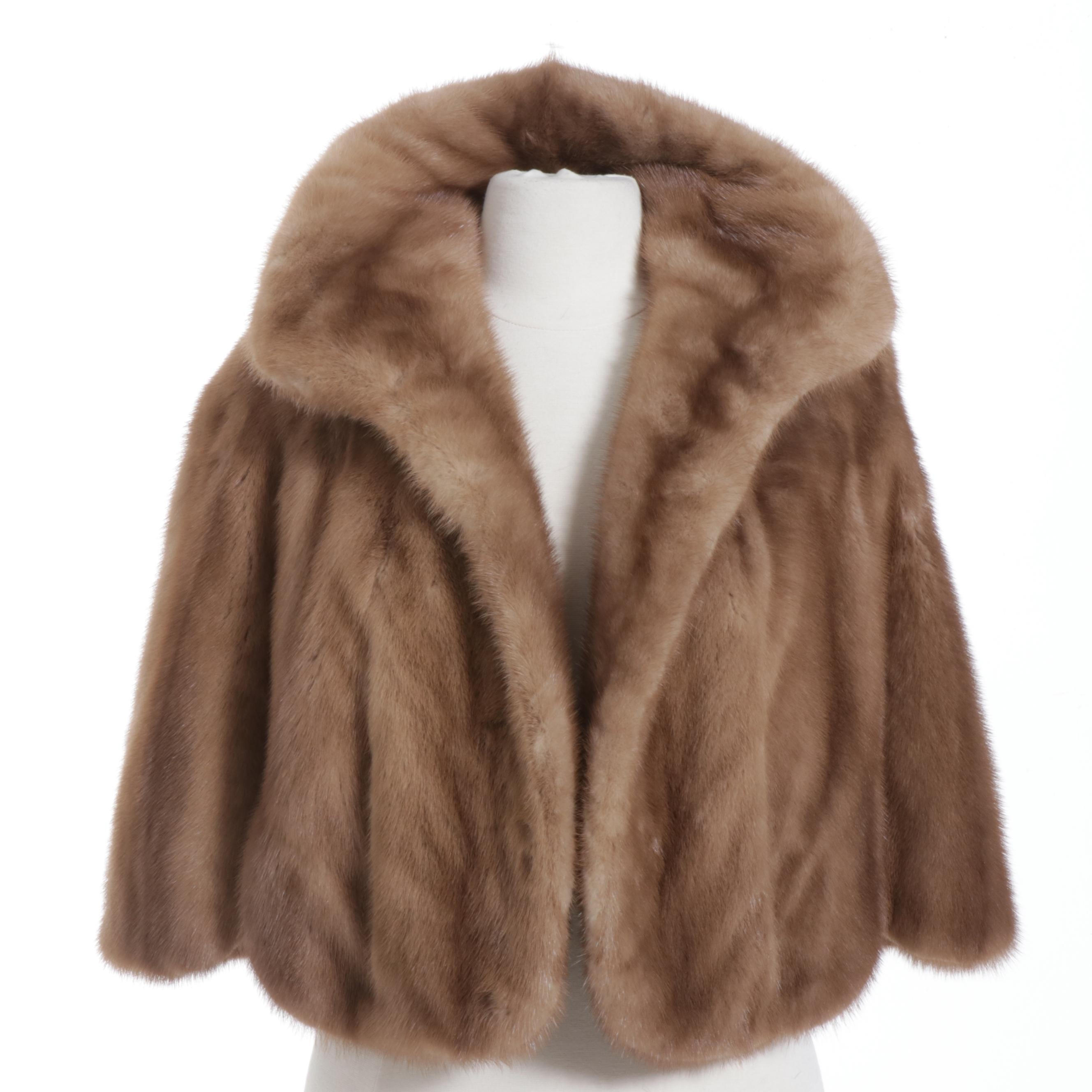 Autumn Haze Mink Fur Stole, Mid-20th Century