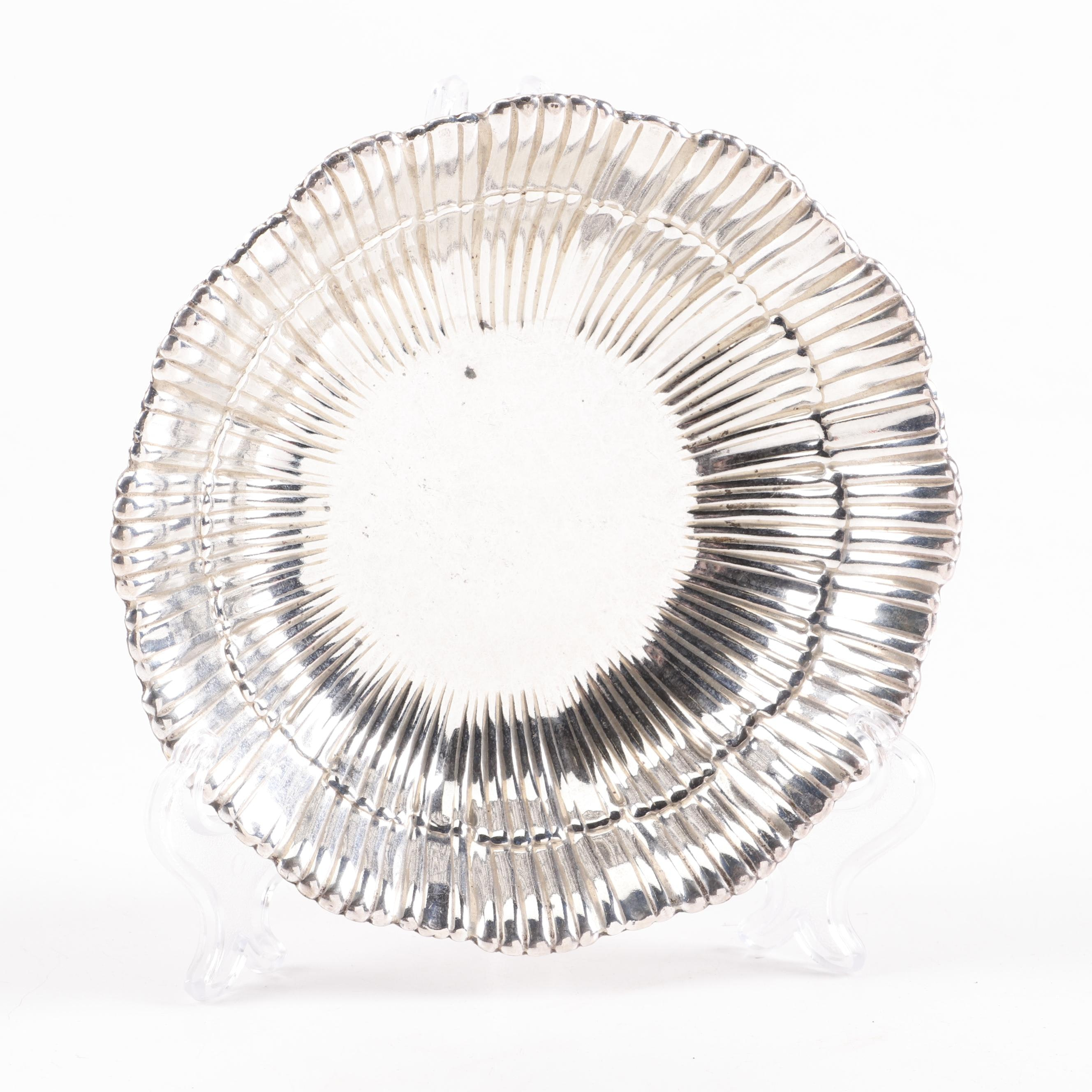 American Sterling Silver Bowl with Pleated Scalloped Rim