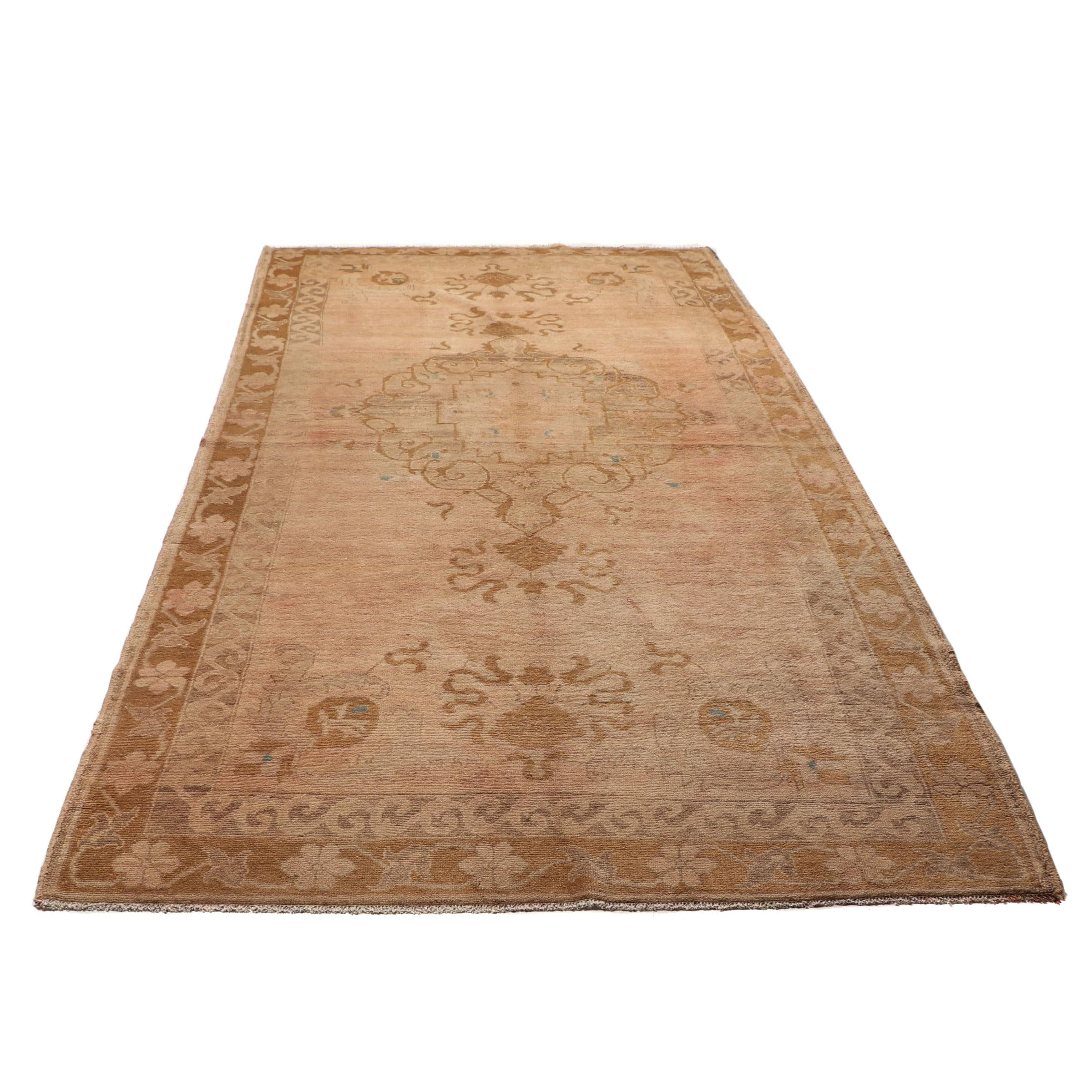 Hand-Knotted Turkish Anatolian Wool Rug