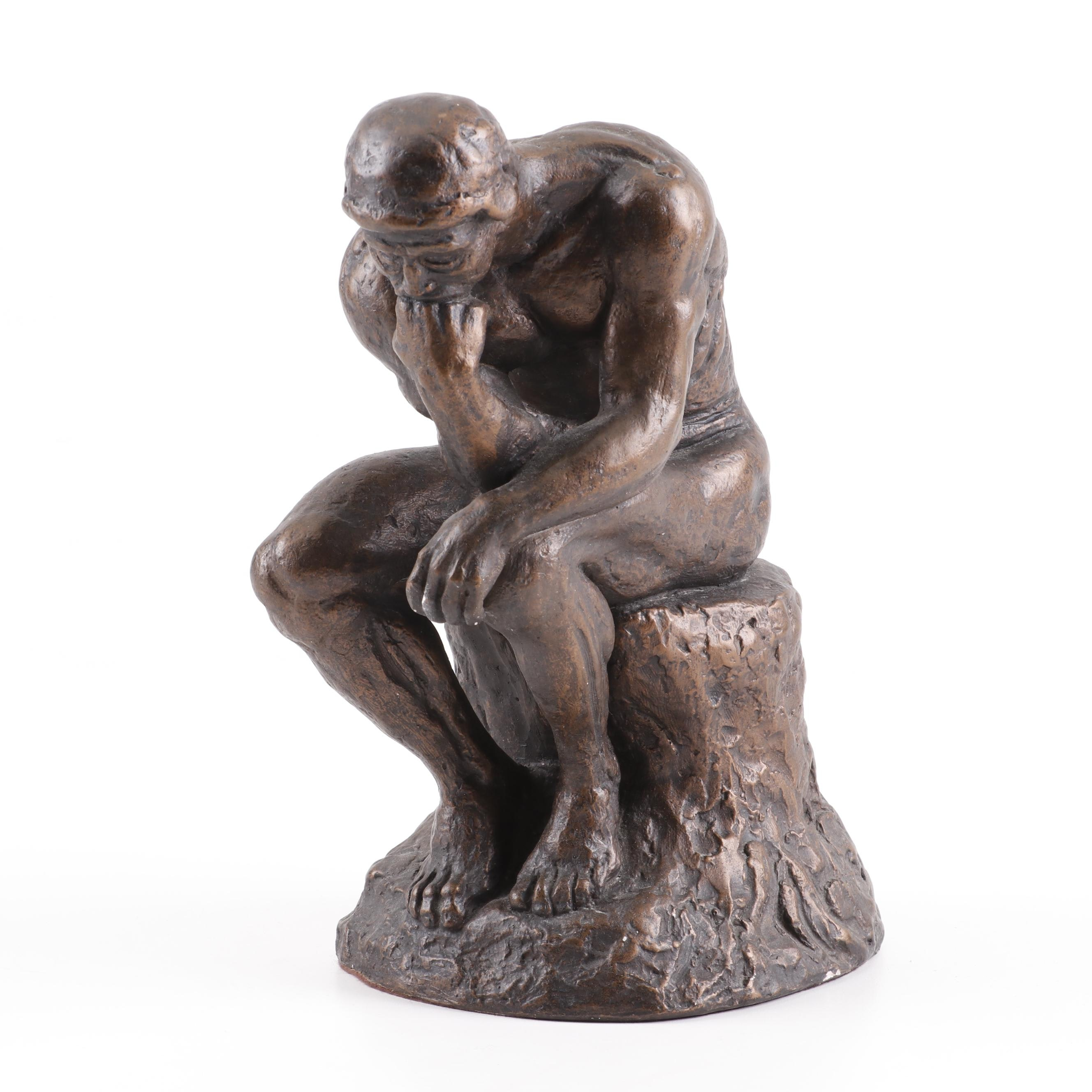 """Austin Productions Plaster Reproduction """"The Thinker"""""""