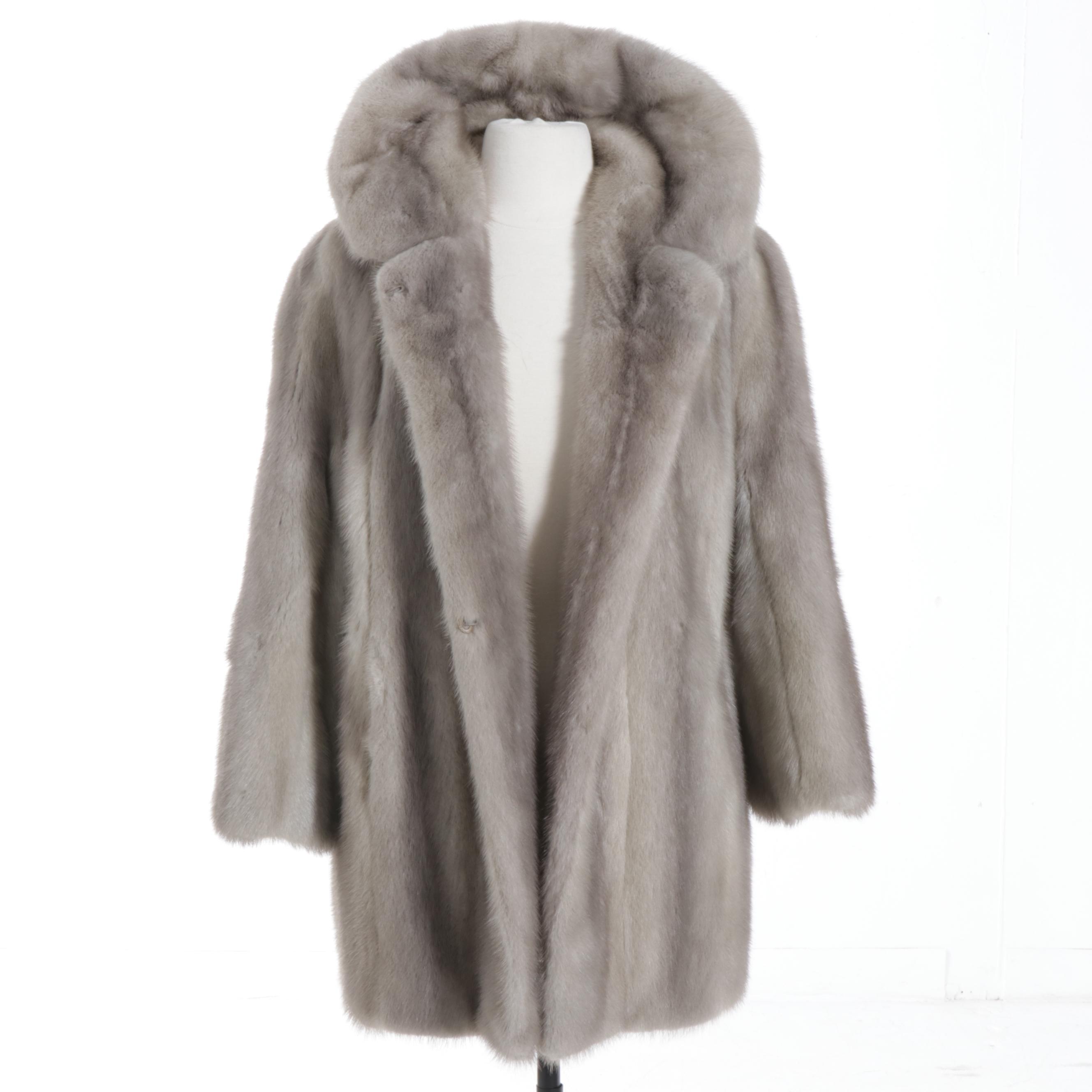 Cerulean Mink Fur Coat by Hamilton Furs, Vintage