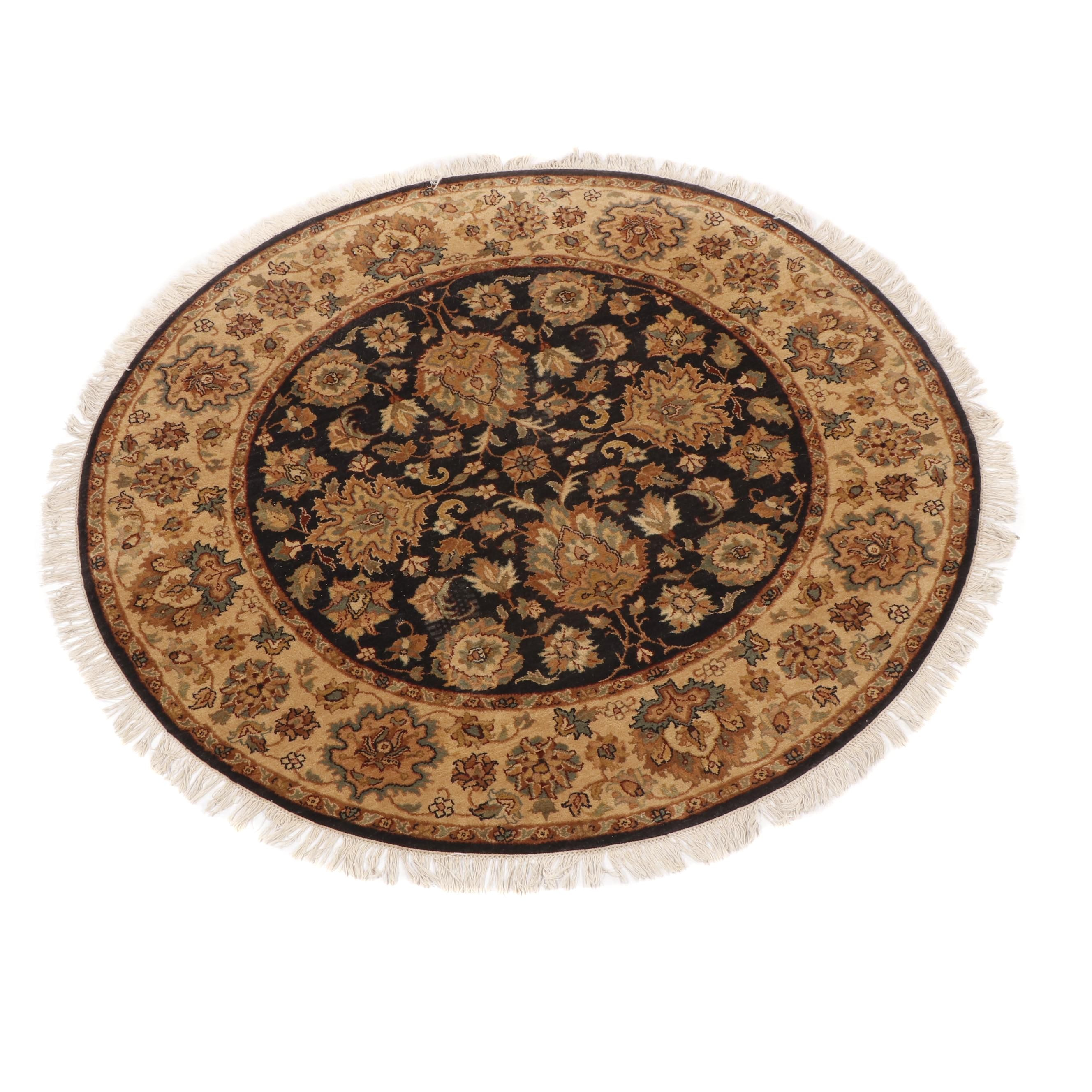 Hand-Knotted Indian Agra Style Wool Area Rug