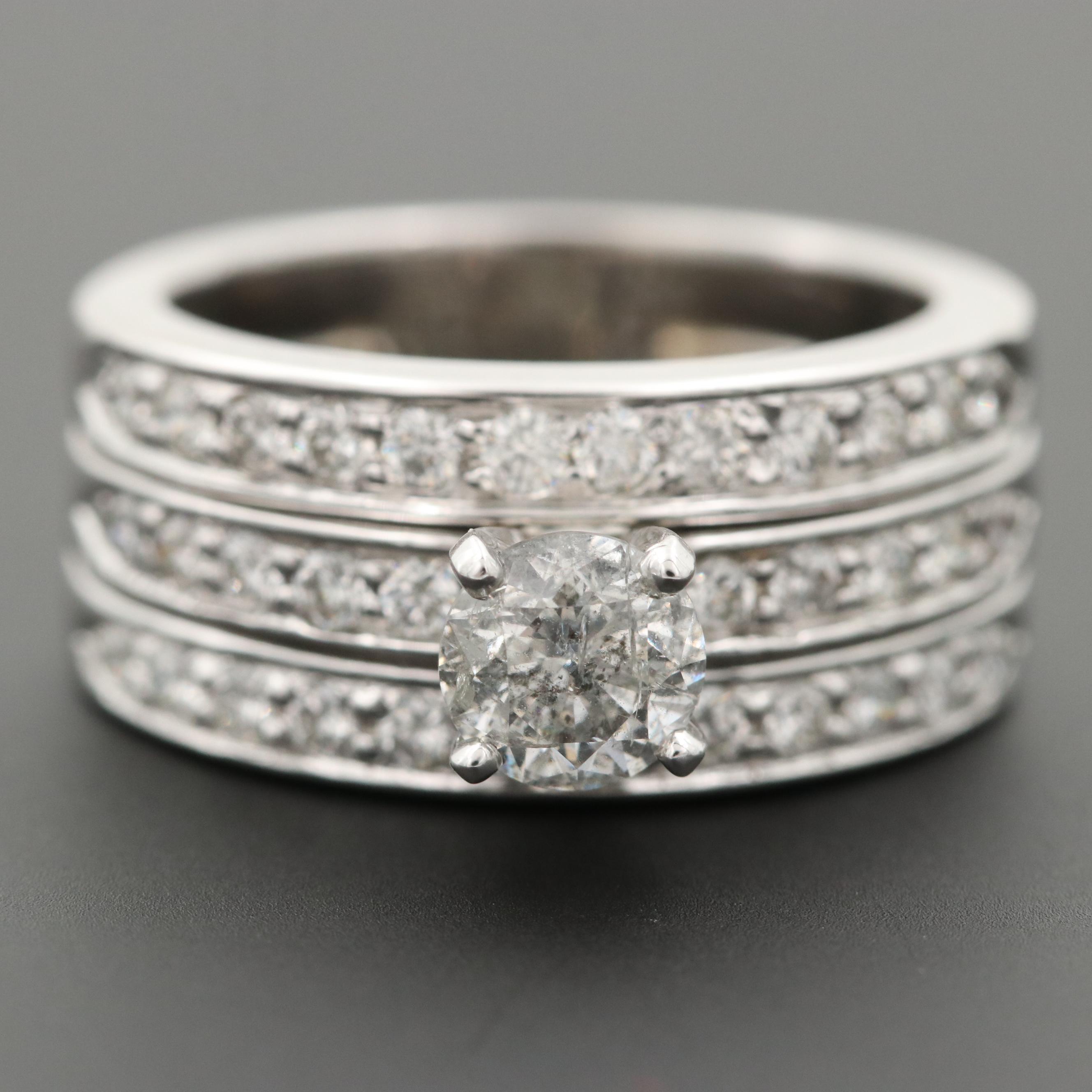 Platinum 1.49 CTW Diamond Ring