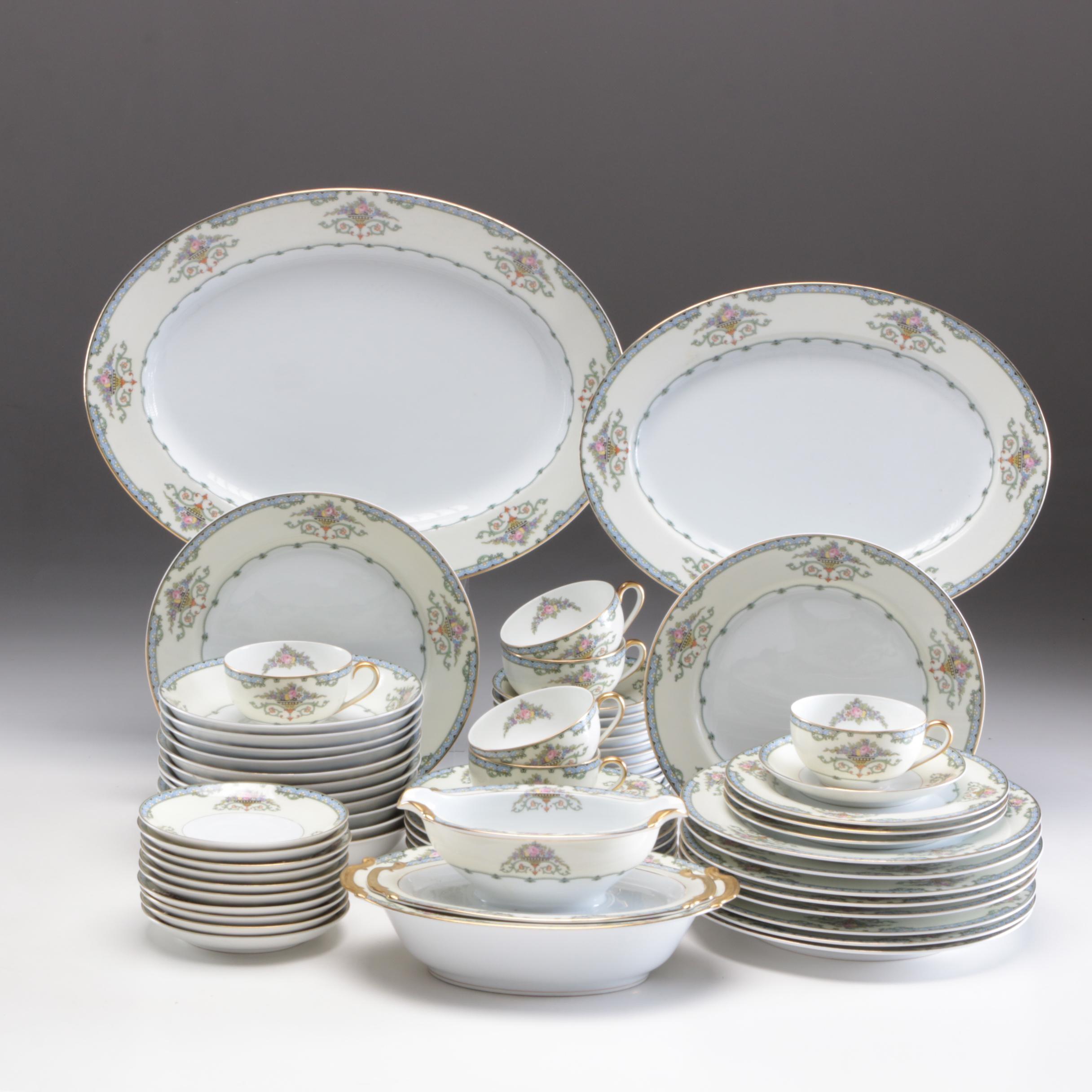 "Noritake Porcelain ""Favorita"" Dinnerware, Mid to Late 20th Century"