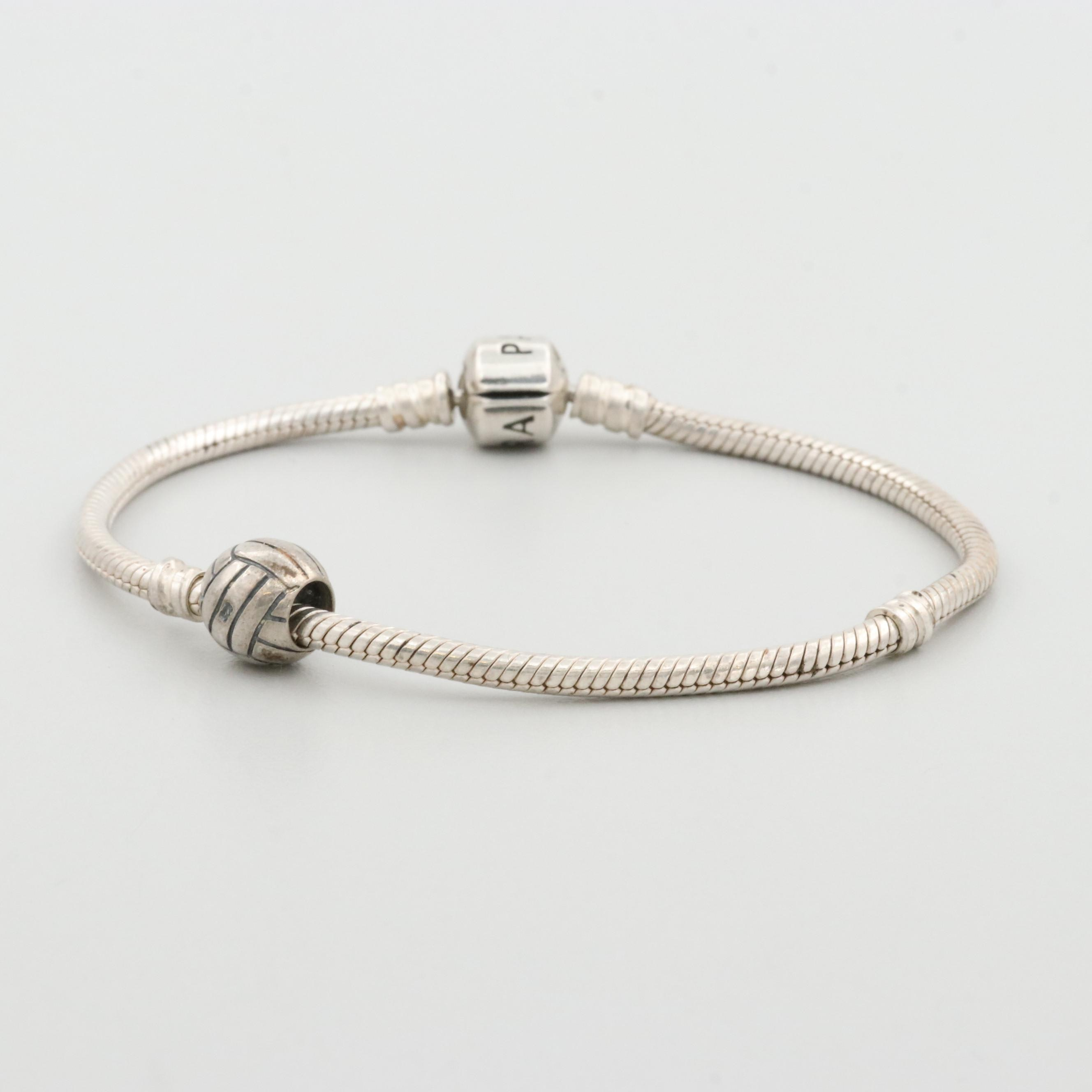 Pandora Sterling Silver Bracelet with Charm