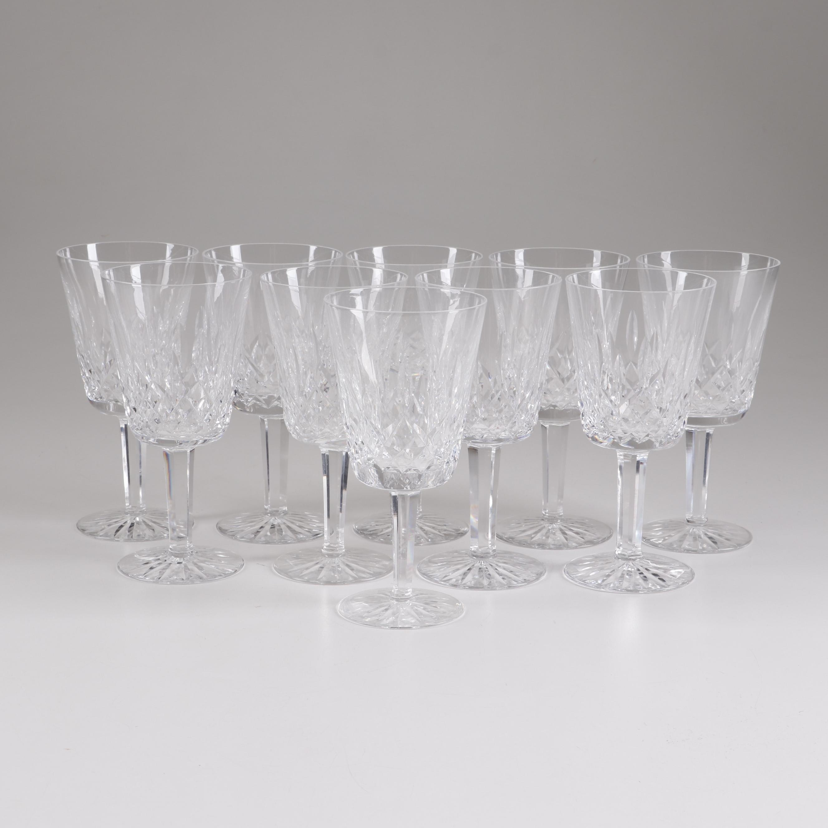 "Waterford Crystal ""Lismore"" Water Goblets"