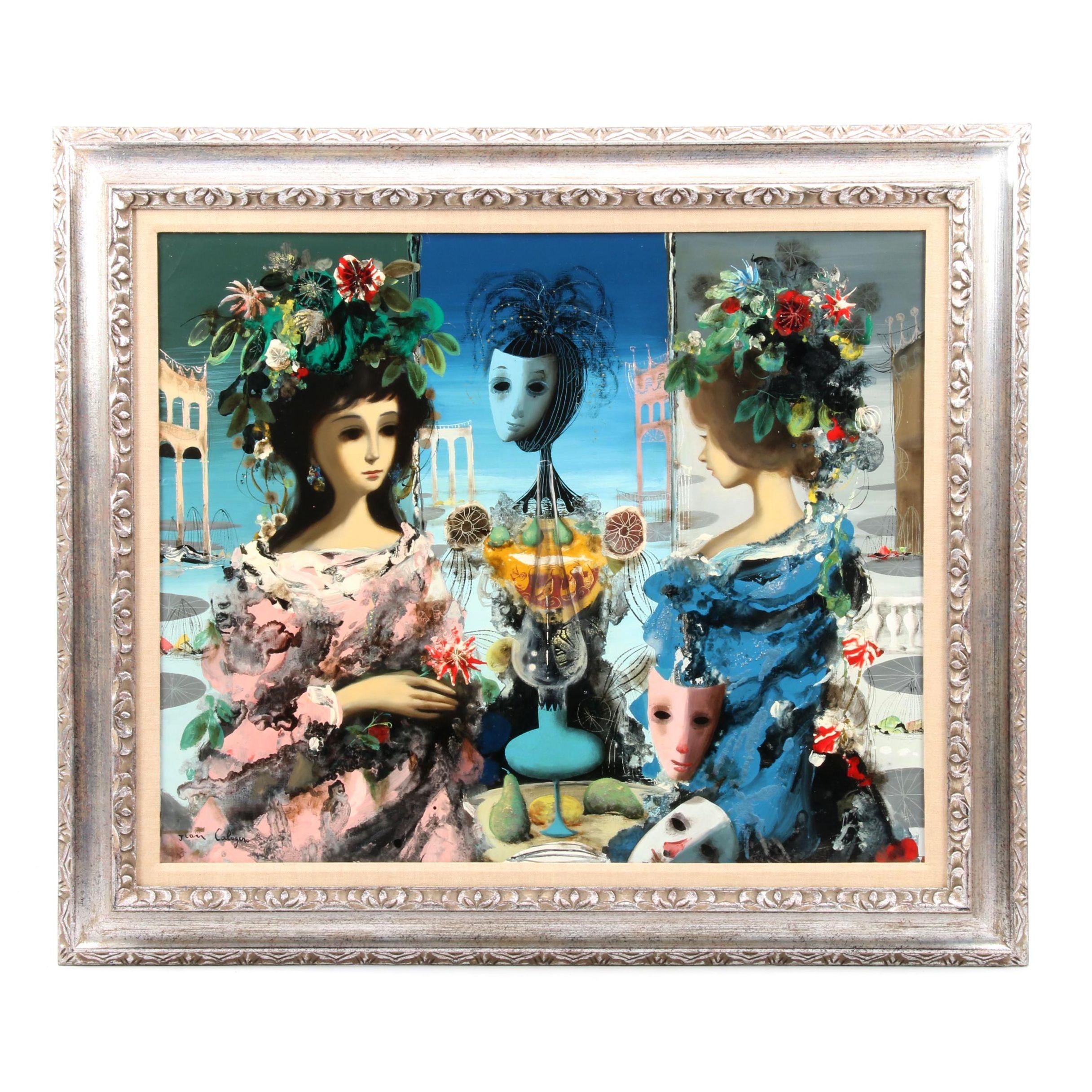 "Jean Calogero Oil Painting ""Liasion"""