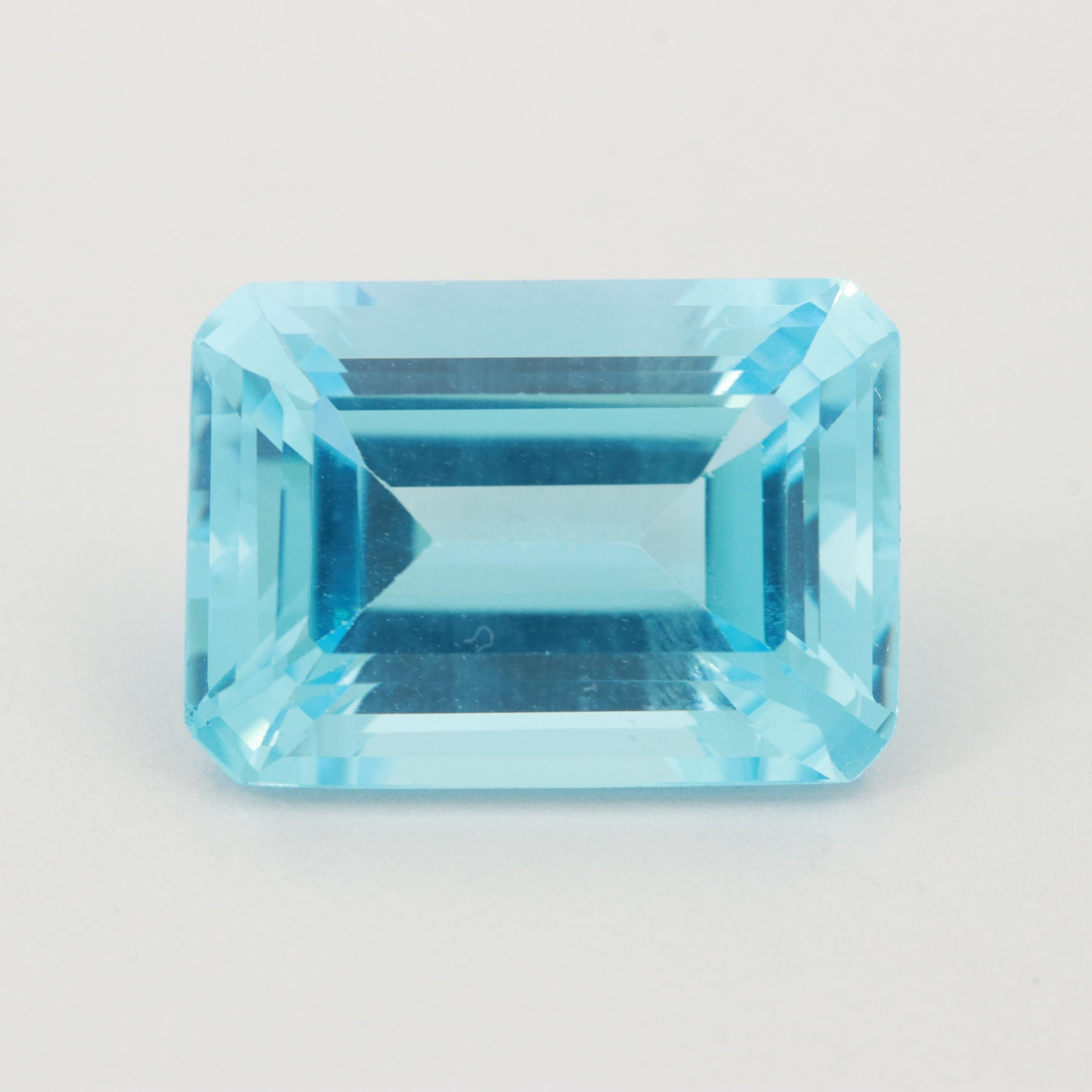 Loose 19.35 CT Blue Topaz Gemstone