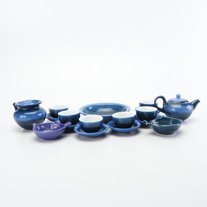 Chinese Ceramic Tea Set, Contemporary