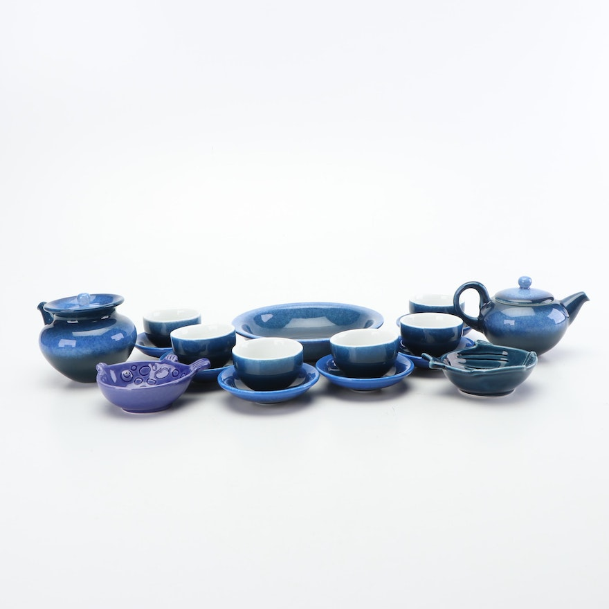Chinese Ceramic Tea Set, Contemporary
