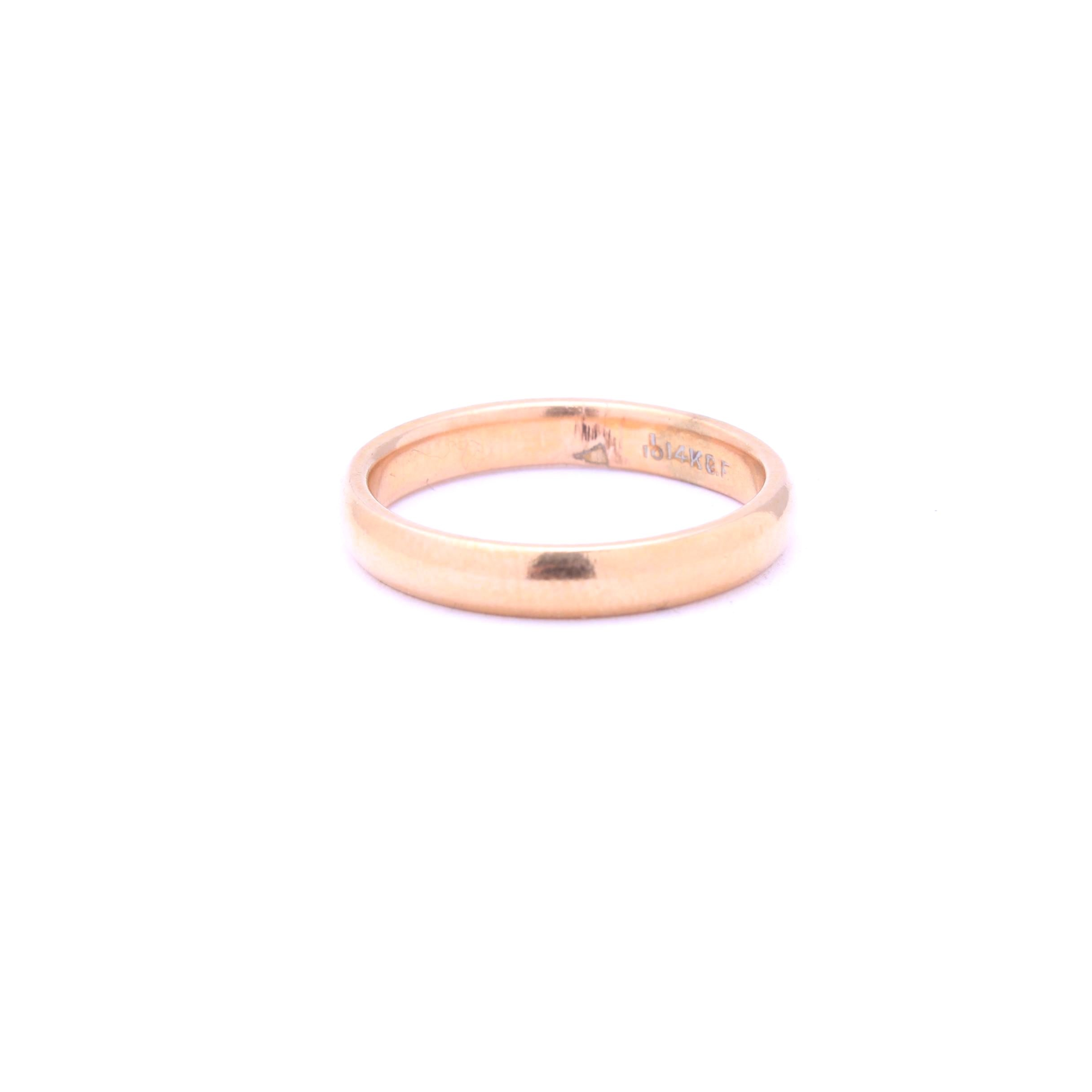 14K Yellow Gold Filled Ring