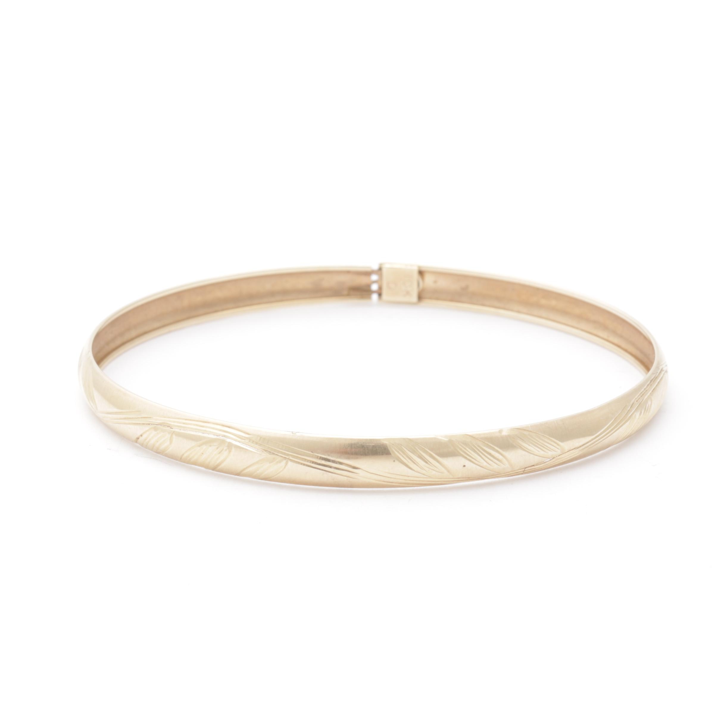 10K Yellow Gold Bangle