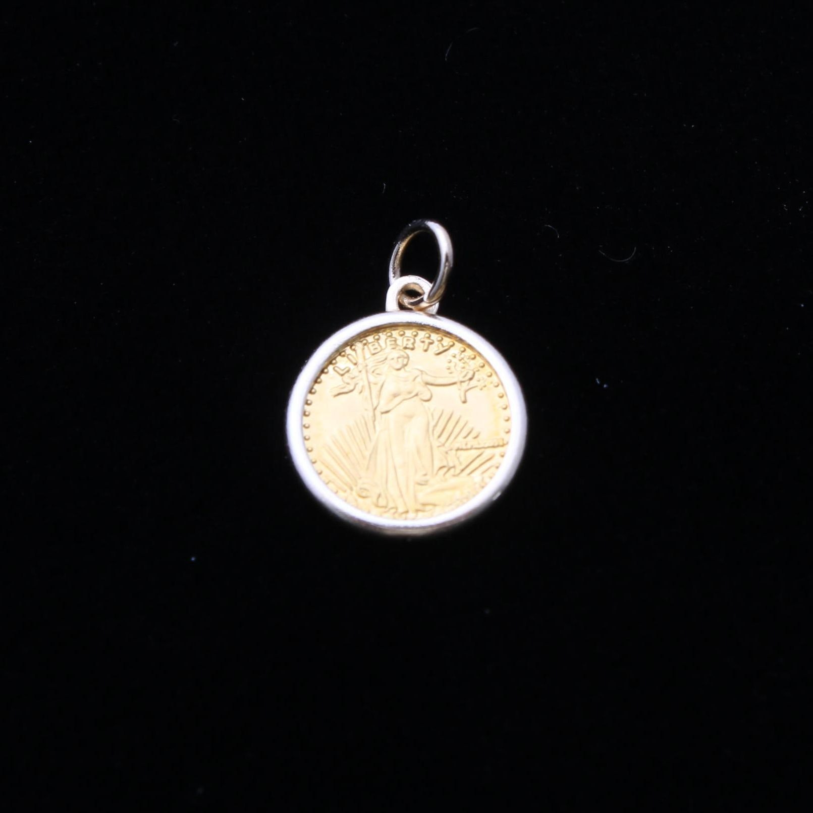 14K Yellow Gold Liberty Coin Pendant