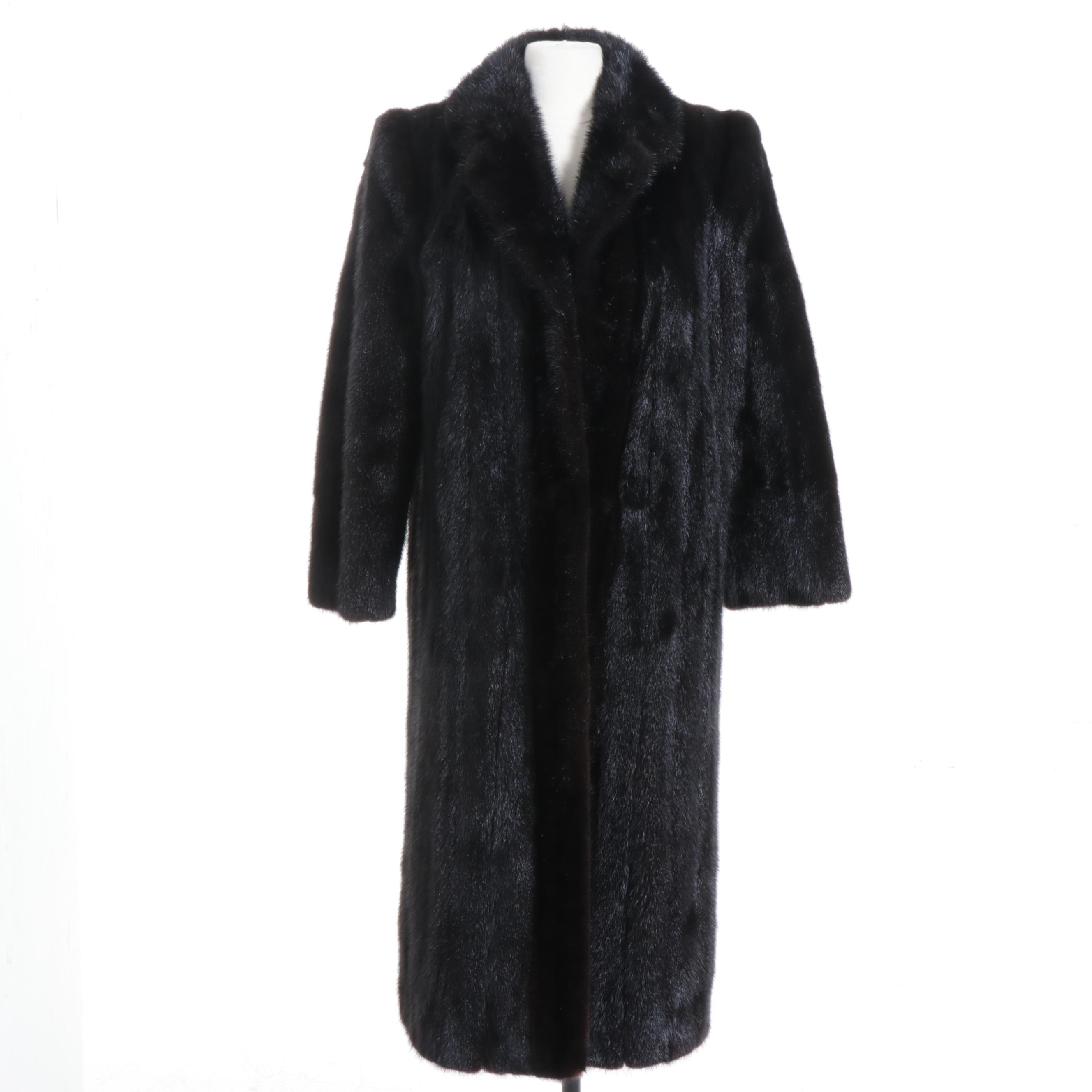 Dark Mahogany Mink Fur Coat