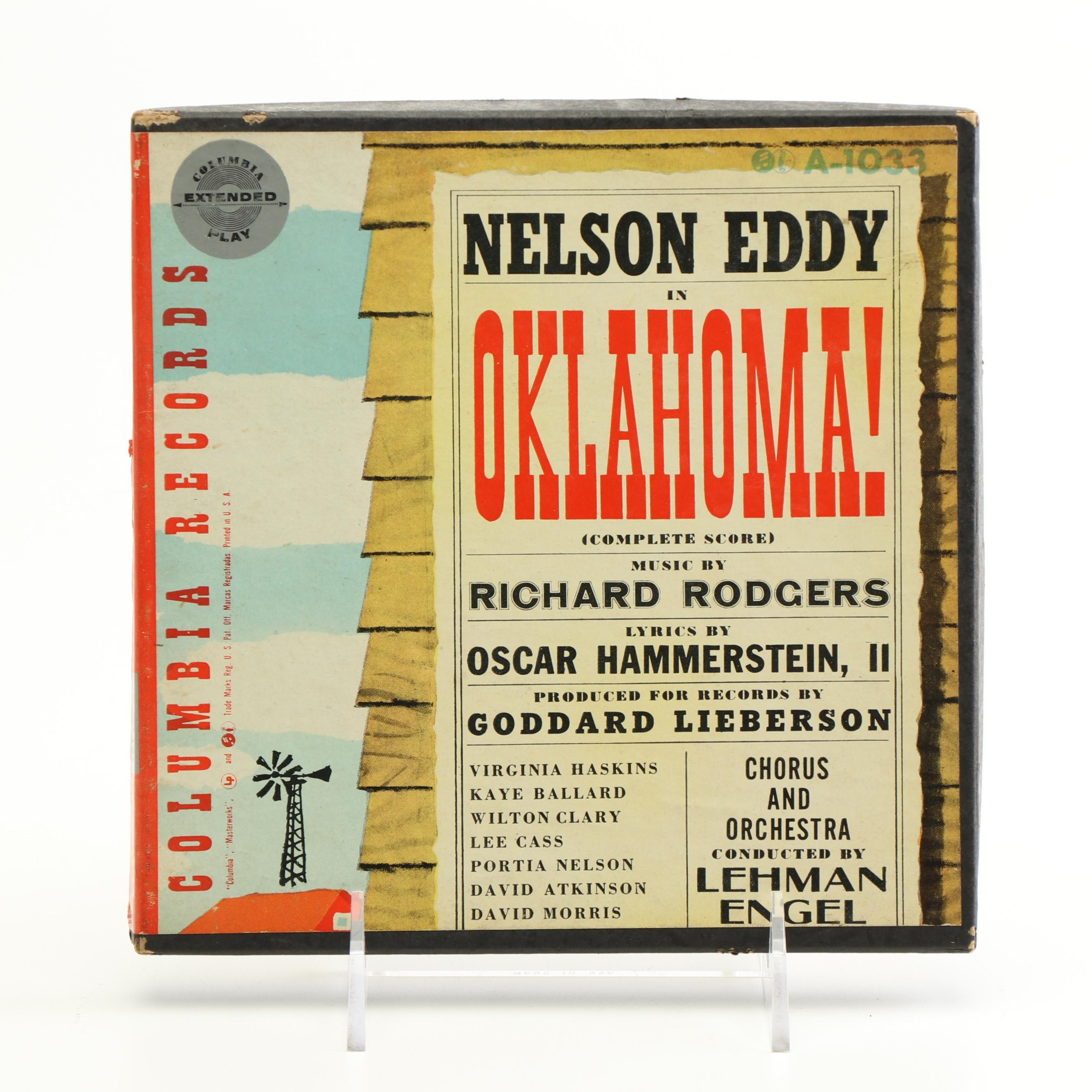 "Columbia Records Nelson Eddy ""Oklahoma"" Records"