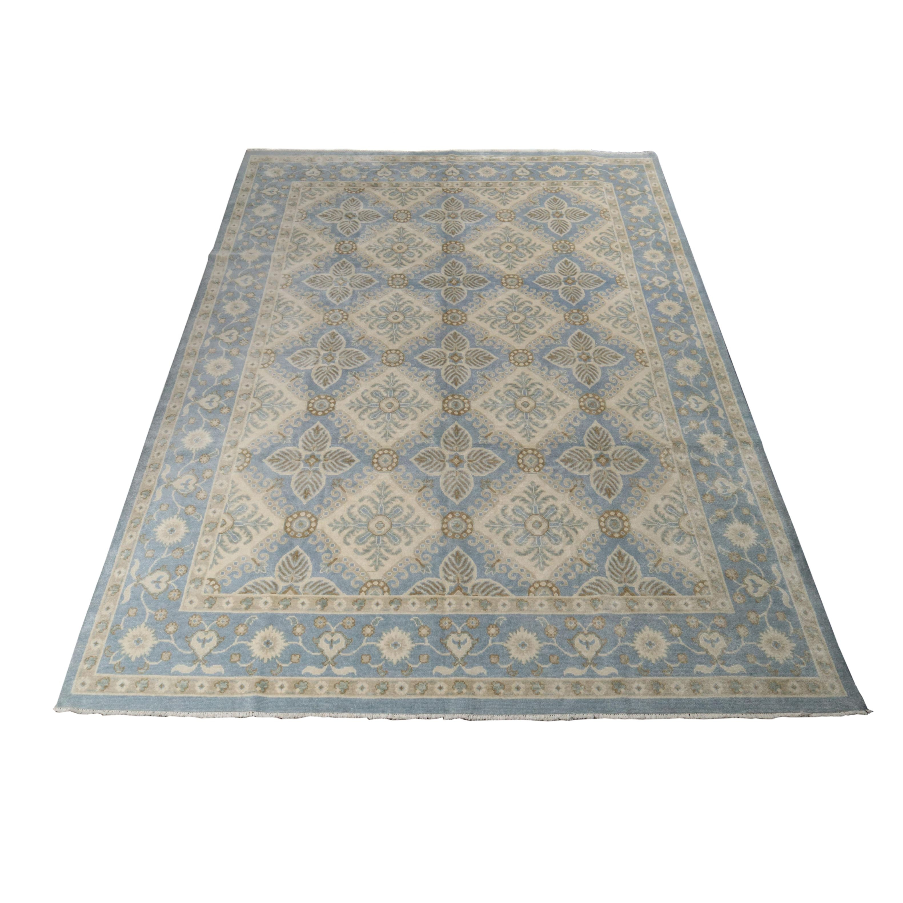 9.2' x 12.1' Hand-Knotted Indo-Persian Tabriz Rug