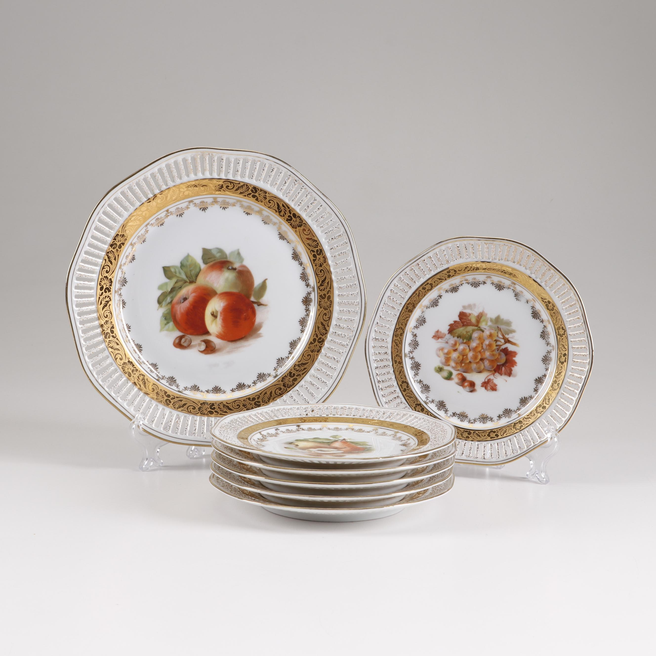 Bavarian Winterling Reticulated Porcelain Plates